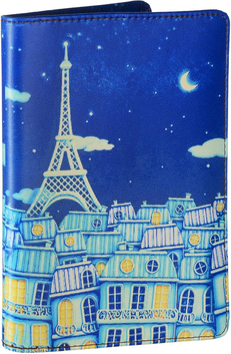 Обложка для паспорта женская Janes Story, цвет: синий. O-PS-01O-PS-01Обложка для паспорта Janes Story выполнена из натуральной кожи и оформлена интересным принтом. Внутри дополнительные кожаные и пластиковые карманы для пластиковых карт. Обложка не только поможет сохранить внешний вид ваших документов и защитить их от повреждений, но и станет стильным аксессуаром, идеально подходящим вашему образу. Обложка для паспорта стильного дизайна может быть достойным и оригинальным подарком.