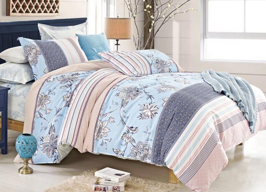 Комплект белья Primavera Classic Морская роза, 2-спальный, наволочки 70х70, цвет: голубой88785