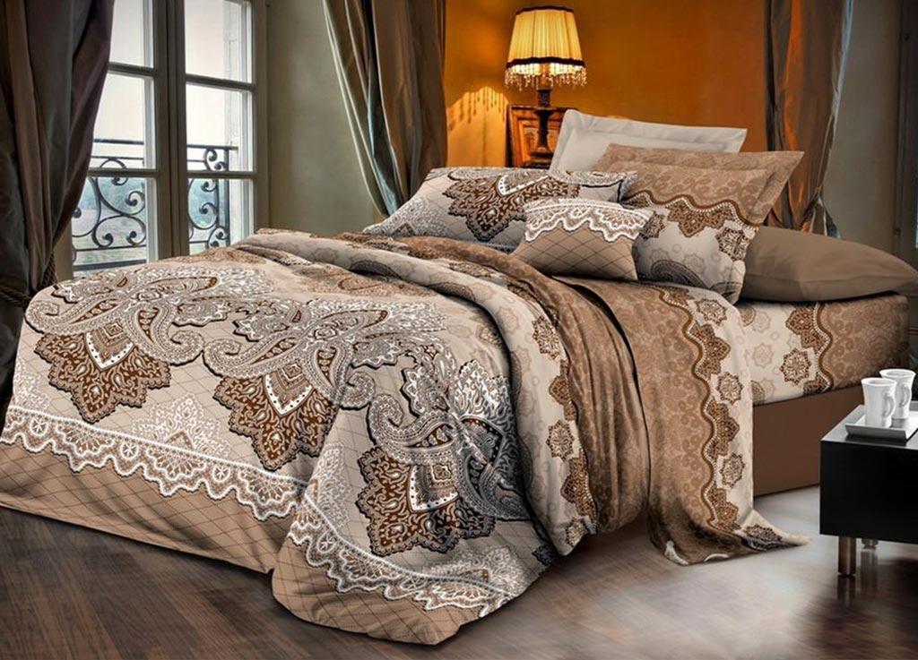Комплект белья Primavera Classic Эскиз, евро, наволочки 70х70, цвет: коричневый88789