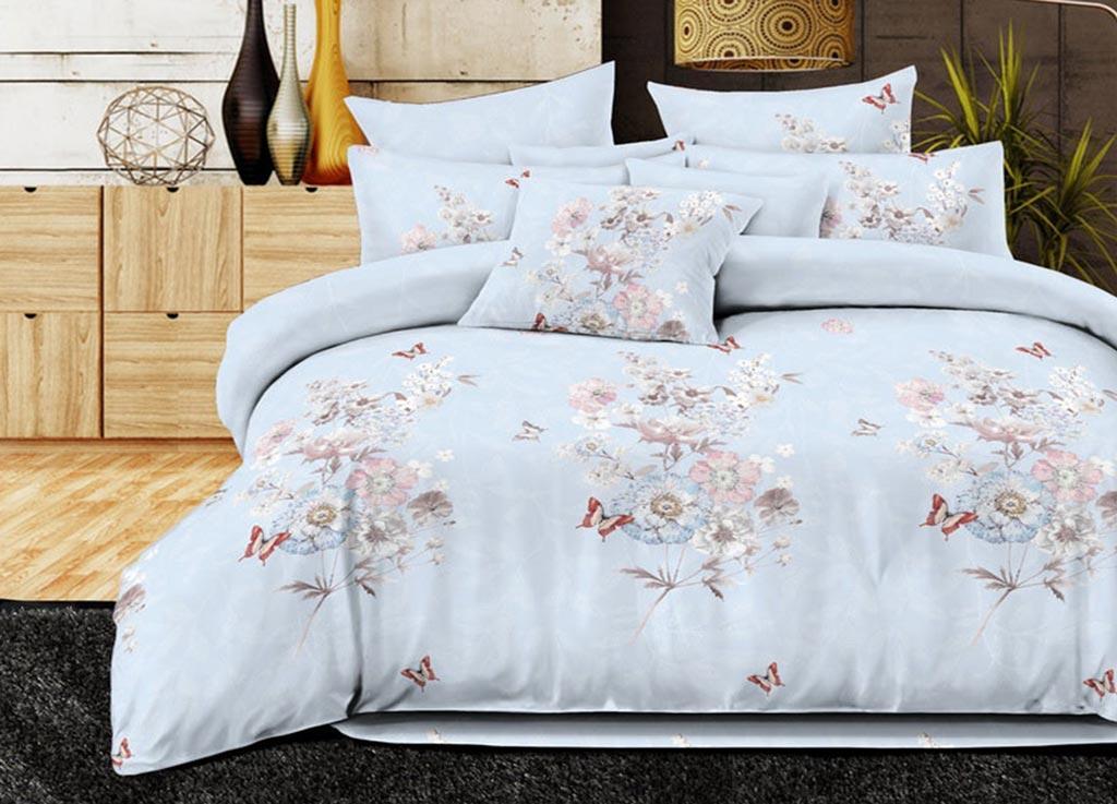 Комплект белья Primavera Classic Полевые цветы, семейный, наволочки 70х70, цвет: голубой88804