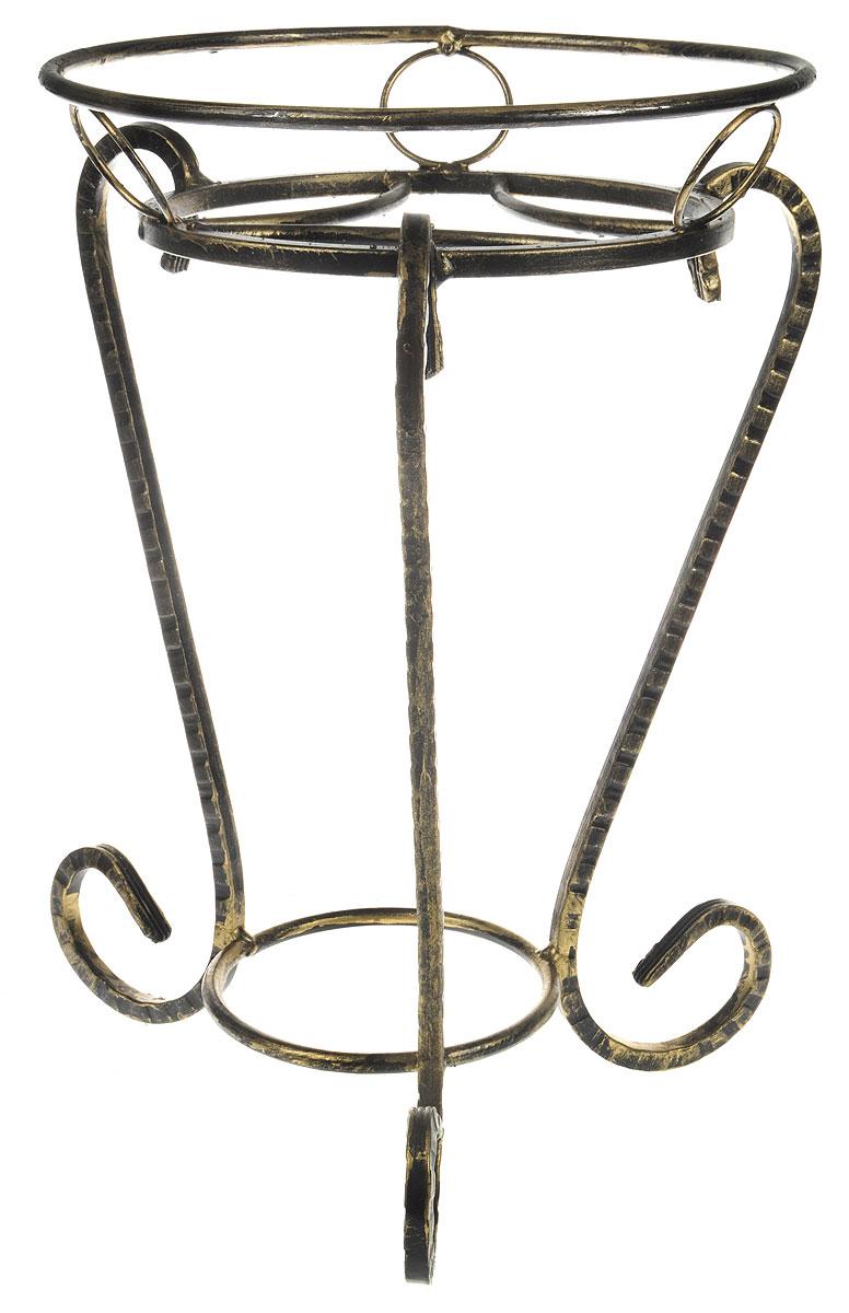 """Подставка для цветов Фабрика ковки """"Классика"""", на 1 цветок, цвет: черный, золотистый. 70-091"""