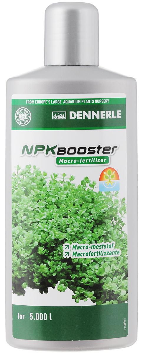Удобрение для аквариумных растений Dennerle NPK Booster, с комплексом макроэлементов, 500 млDEN4535Удобрение для аквариумных растений Dennerle NPK Booster разработано специально для акваскейпинга. Удобрение идеально подходит для аквариумов с сильным освещением и большим количеством растений, а также для аквариумов с незначительным количеством рыб. Содержит необходимый аквариумным растениям нитрат, фосфат и калий в сбалансированном соотношении. Эффективно предотвращает нехватку макроудобрений, помогает при проявлении симптомов нехватки питательных веществ. Способствует образованию свежей ярко-зеленой листвы. Предотвращает появление желтых полупрозрачных листьев. Дозировка: еженедельно 10 мл (1/3 крышечки) на 100 л аквариумной воды. Товар сертифицирован.