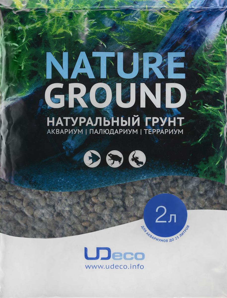"""Грунт для аквариума UDeco """"Темный гравий"""", натуральный, 6-9 мм, 2 л"""
