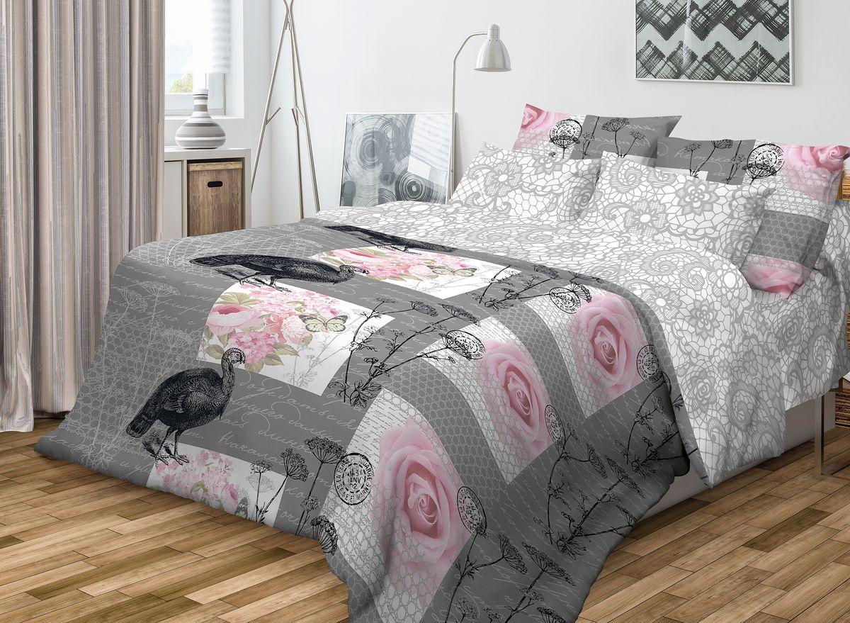 Комплект белья Волшебная ночь Coco, 2-спальный, наволочки 50x70, цвет: серый, розовый701977Роскошный комплект постельного белья Волшебная ночь Coco выполнен из натурального ранфорса (100% хлопка) и украшен оригинальным рисунком. Комплект состоит из пододеяльника, простыни и двух наволочек. Ранфорс - это новая современная гипоаллергенная ткань из натуральных хлопковых волокон, которая прекрасно впитывает влагу, очень проста в уходе, а за счет высокой прочности способна выдерживать большое количество стирок. Высочайшее качество материала гарантирует безопасность. Доверьте заботу о качестве вашего сна высококачественному натуральному материалу.