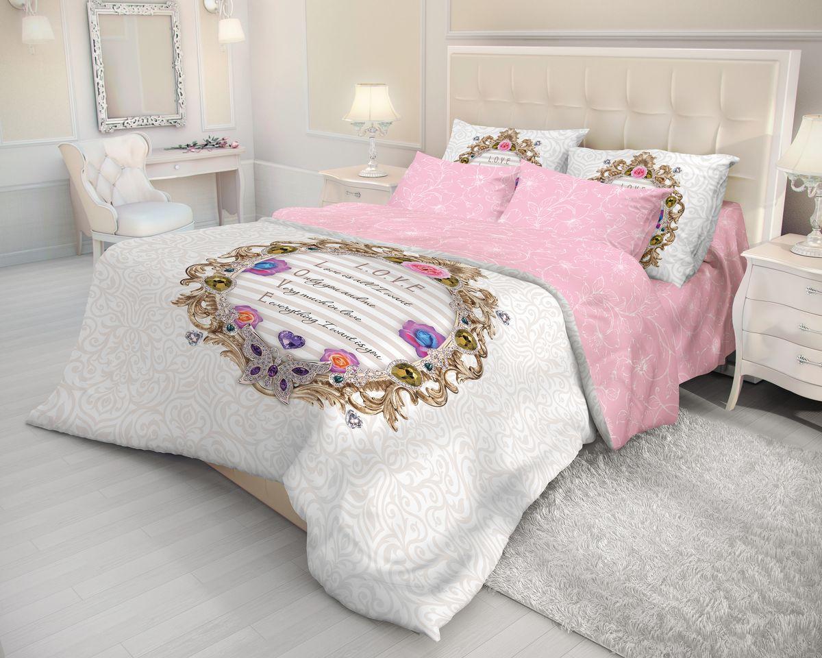 Комплект белья Волшебная ночь Love, 2-спальный, наволочки 50x70, цвет: серый, розовый702109Роскошный комплект постельного белья Волшебная ночь Love выполнен из натурального ранфорса (100% хлопка) и украшен оригинальным рисунком. Комплект состоит из пододеяльника, простыни и двух наволочек. Ранфорс - это новая современная гипоаллергенная ткань из натуральных хлопковых волокон, которая прекрасно впитывает влагу, очень проста в уходе, а за счет высокой прочности способна выдерживать большое количество стирок. Высочайшее качество материала гарантирует безопасность. Доверьте заботу о качестве вашего сна высококачественному натуральному материалу.