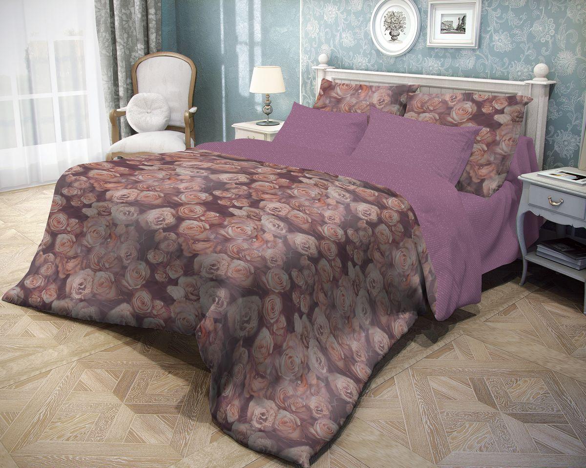 Комплект белья Волшебная ночь Rose, 2-спальный, наволочки 70x70, цвет: сливовый702122Роскошный комплект постельного белья Волшебная ночь Rose выполнен из натурального ранфорса (100% хлопка) и украшен оригинальным рисунком. Комплект состоит из пододеяльника, простыни и двух наволочек. Ранфорс - это новая современная гипоаллергенная ткань из натуральных хлопковых волокон, которая прекрасно впитывает влагу, очень проста в уходе, а за счет высокой прочности способна выдерживать большое количество стирок. Высочайшее качество материала гарантирует безопасность. Доверьте заботу о качестве вашего сна высококачественному натуральному материалу.