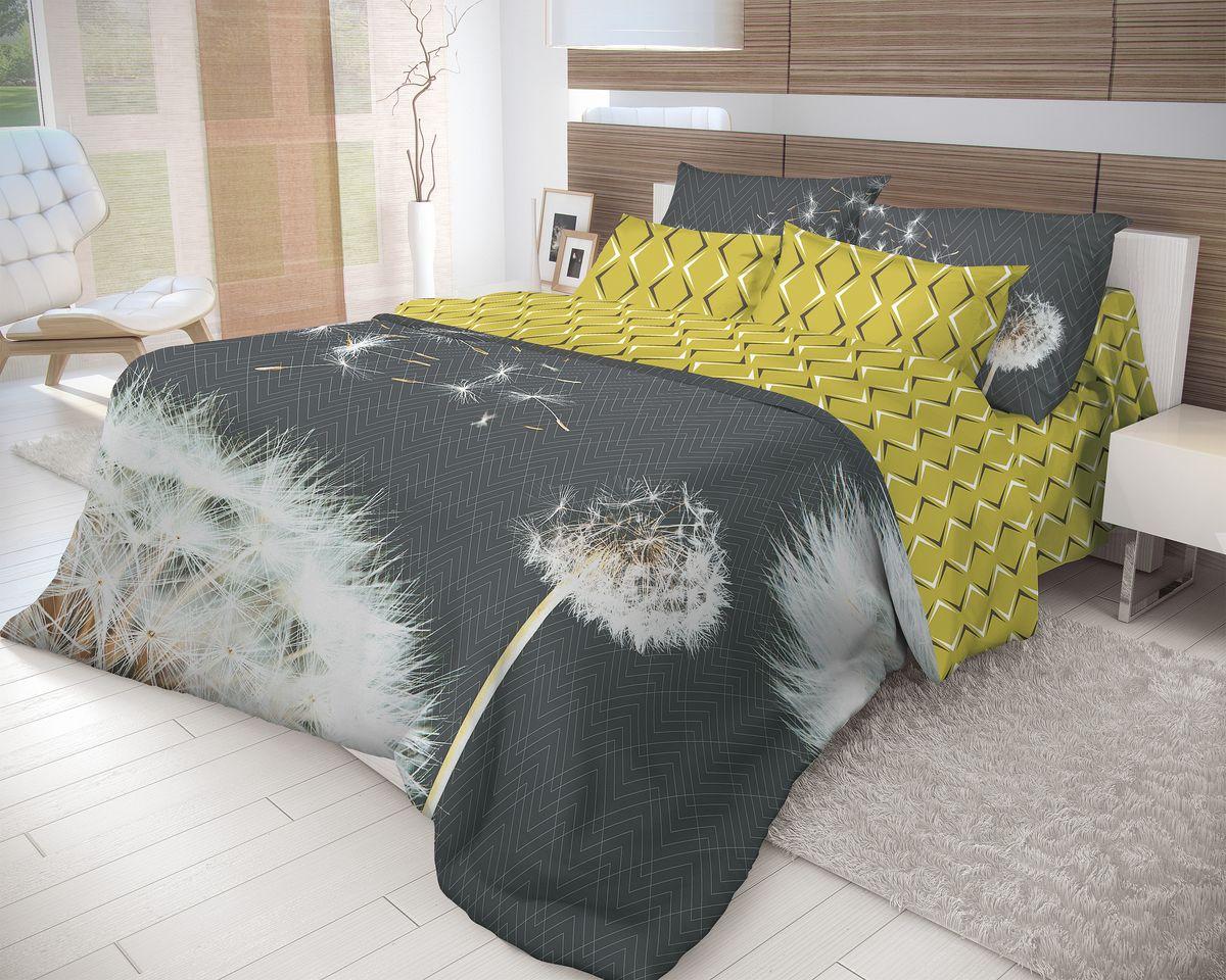Комплект белья Волшебная ночь Dandelion, 2-спальный, наволочки 70x70, цвет: темно-серый, оливковый, белый702175Роскошный комплект постельного белья Волшебная ночь Dandelion выполнен из натурального ранфорса (100% хлопка) и украшен оригинальным рисунком. Комплект состоит из пододеяльника, простыни и двух наволочек. Ранфорс - это новая современная гипоаллергенная ткань из натуральных хлопковых волокон, которая прекрасно впитывает влагу, очень проста в уходе, а за счет высокой прочности способна выдерживать большое количество стирок. Высочайшее качество материала гарантирует безопасность. Доверьте заботу о качестве вашего сна высококачественному натуральному материалу.