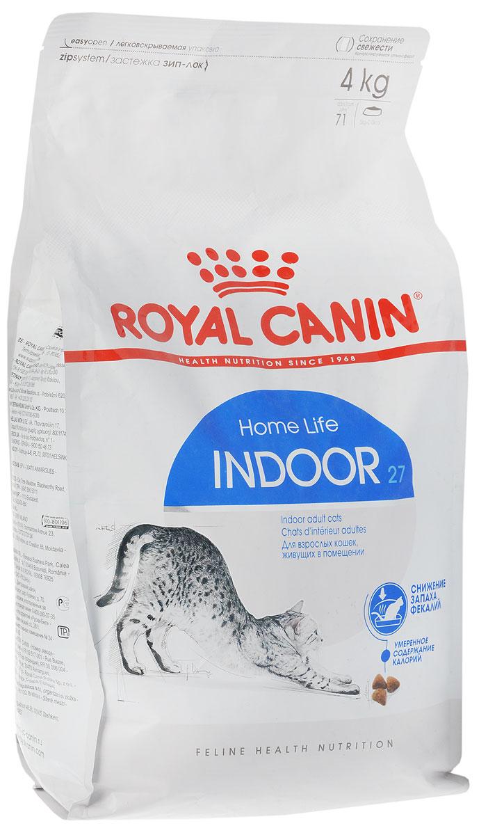 Корм сухой Royal Canin Indoor 27, для кошек в возрасте от 1 года до 7 лет, живущих в помещении, для ослабления запаха фекалий, 4 кг63025_кошкиСухой корм Royal Canin Indoor 27 - полнорационное питание для кошек от 1 до 7 лет, живущих в помещении. Кошка, постоянно живущая в помещении, ограничена в движении, поэтому большую часть своего времени она тратит на сон и прием пищи. Низкая активность кошки вызывает вялую работу кишечника и, как следствие, появление жидкого стула с резким неприятным запахом. У домашних кошек повышается риск появления избыточного веса. Ежедневное вылизывание шерсти приводит к образованию волосяных комочков в желудке кошки. Ослабляет запах фекалий кошки благодаря высокому содержанию L.I.P. Высокоперевариваемый корм Royal Canin Indoor 27 способствует значительному ослаблению запаха стула кошки в результате уменьшения выделения сероводорода - зловонного газа, выделяющегося из фекалий. Умеренное содержание энергии: способствует уменьшению жировых отложений у кошек за счет умеренного содержания калорий и добавления L-карнитина (50 мг/кг). Выведение волосяных комочков:...