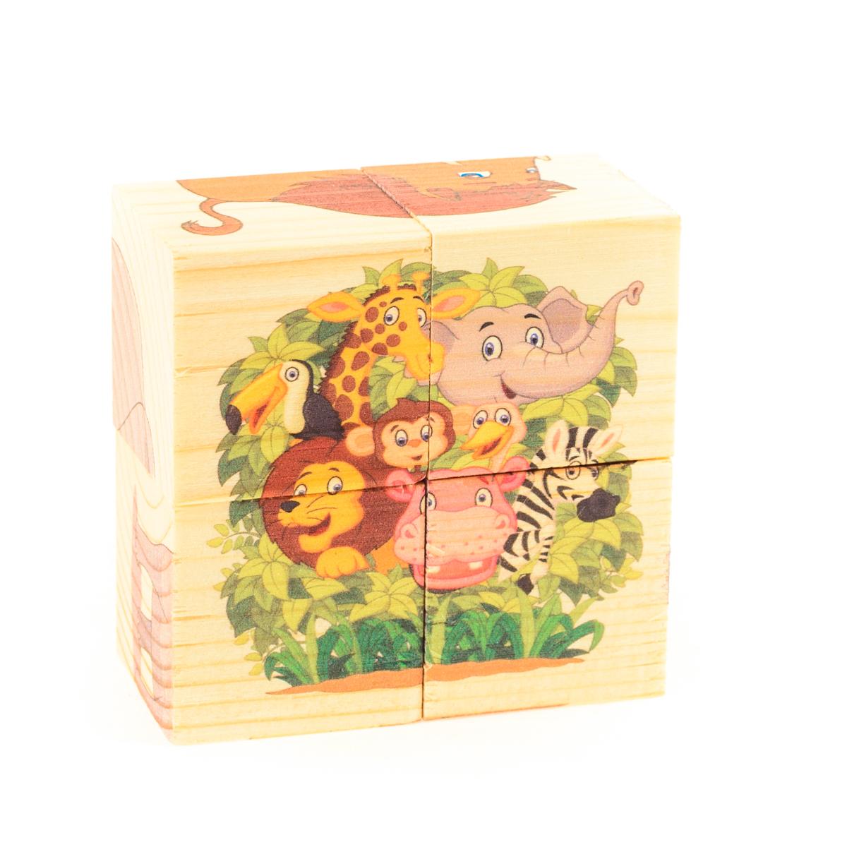 Развивающие деревянные игрушки Кубики ЗоопаркД493аКубики из натурального дерева - любимая игрушка каждого ребенка. Кубики обожают дети. Игру с кубиками в детстве с удовольствием и теплом вспоминают взрослые. Для кубиков серии Развивающие деревянные игрушки используется только натуральное отечественное дерево мягких пород с минимальной обработкой, что позволило максимально сохранить ощущение фактуры дерева и его аромата. Яркие, контрастные и понятные ребенку иллюстрации нанесены экологичными красками. Кубики из дерева - не только прекрасный строительный материал для вполощения детских фантазий, но и удобное пособие для развития зрительной памяти, логики и мелкой моторики у детей. Объясните ребенку, что на каждой грани кубика нанесена часть картинки, а если 4 картинки собрать вместе, получится изображение. Покажите ему пример. С помощью набора Собери рисунок. Кубики-пазл. ЗООПАРК можно собрать 6 разных изображений животных из зоопарка. ВНИМАНИЕ! Детали игрушки выполнены из натурального дерева (деревоматериала) без покрытия лаками...