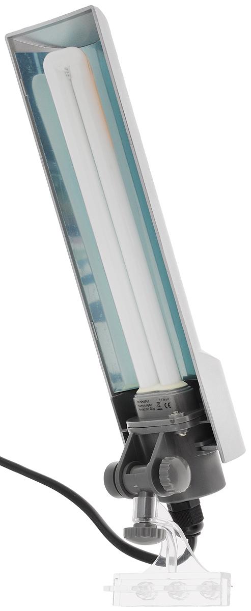 Светильник Dennerle Nano Light, с верхним креплением на стенку аквариума, 11 ВтDEN5922Светильник Dennerle Nano Light предназначен для подсветки аквариума. Регулируется по высоте и передвигается по горизонтали. Крепится к стенкам аквариума толщиной до 5 мм. Светильник оснащен встроенным глянцевым отражателем, обеспечивающим на 100% больше света. В комплект входим энергосберегающая люминесцентная лампа (цвет света: дневной, 6000 кельвин). Размер светильника: 27 х 6,5 х 3,5 см. Длина шнура: 2 м.