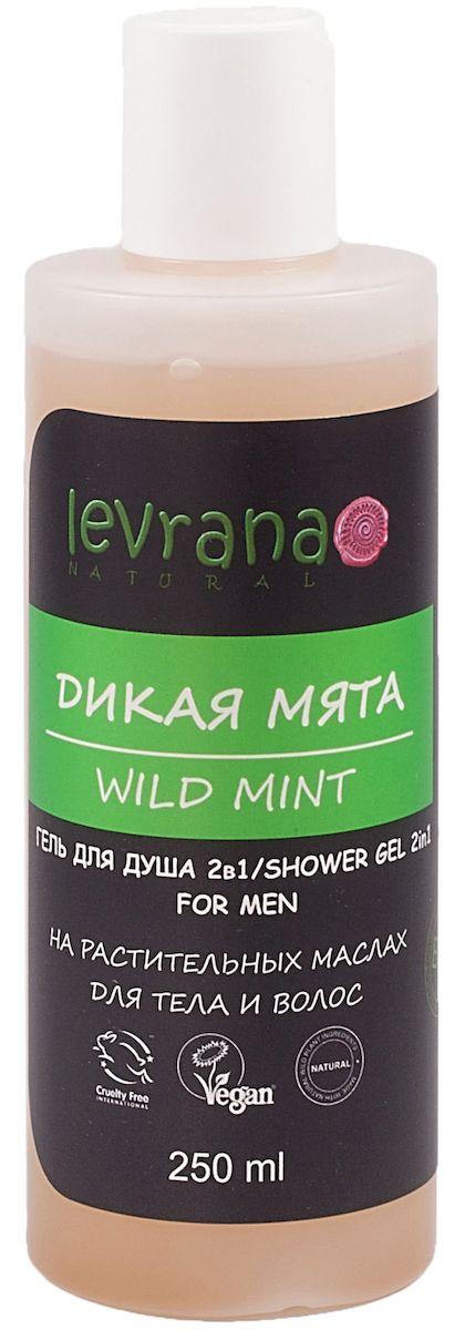 Levrana Гель для душа 2 в 1 Дикая Мята, мужской, 250 млSG05Гель для душа Дикая Мята 2в1 на растительных маслах.