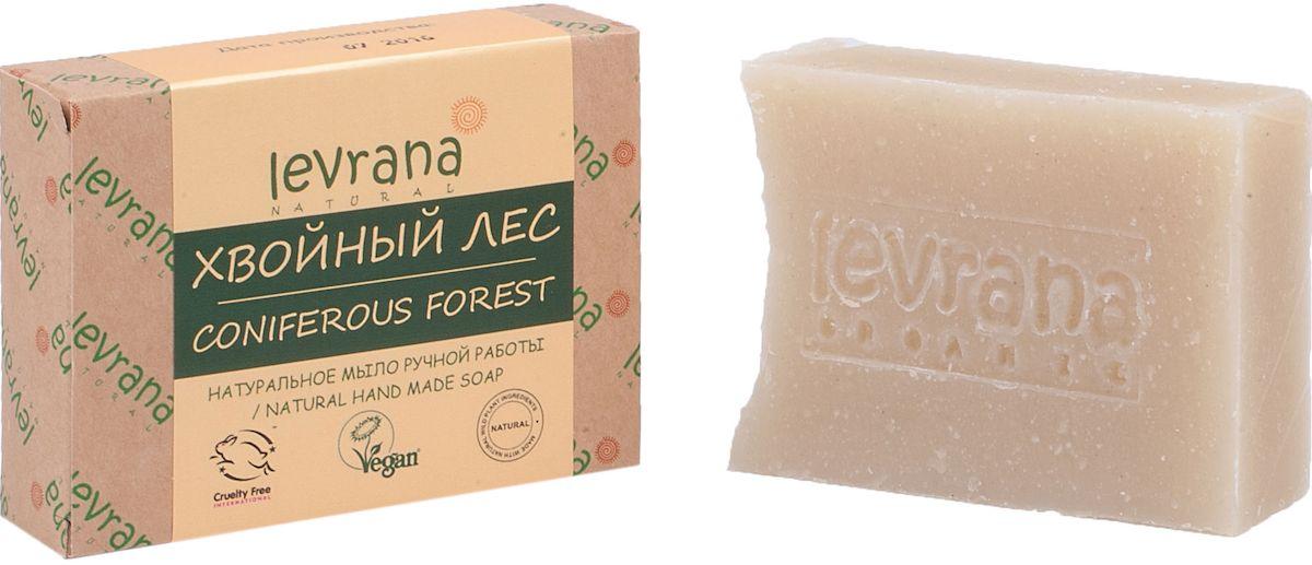 Levrana Натуральное мыло ручной работы Хвойный лес, 100 гNHMS20Натуральное мыло очень бережно очищает кожу лица и тела. Ежедневное умывание позволит вам избавиться от сальности, вы забудете что такое проблемная Т-зона. Натуральное мыло ручной работы сделано только на растительных маслах, и обогащено экстрактами растений и ягод.