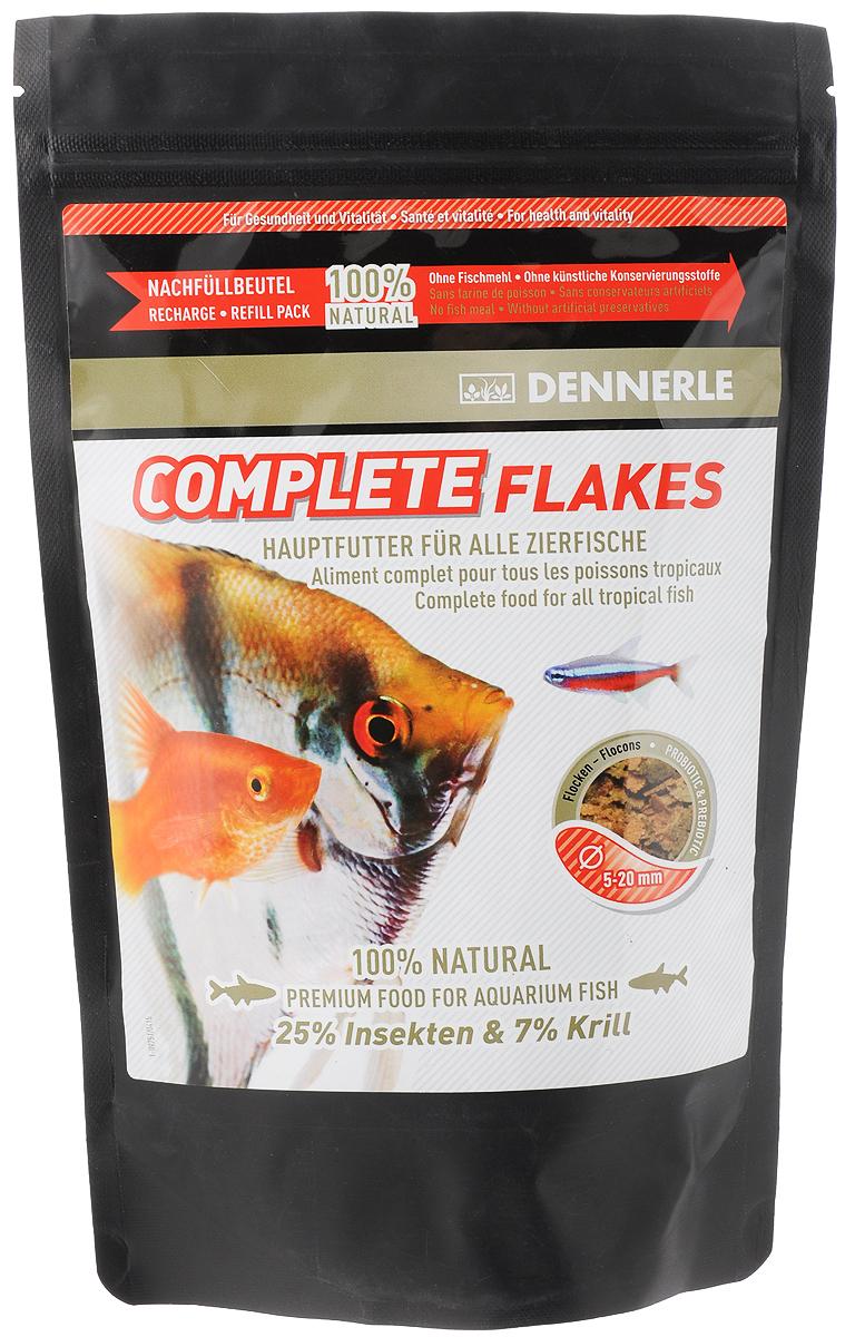 Корм Dennerle Complete Flakes, для аквариумных рыб, 142 гDEN7502Корм Dennerle Complete Flakes подходит для обитателей классических общих аквариумов. Корм состоит из различных ингредиентов хорошо воспринимаемых рыбками любых размеров. Содержит до 25% вкусных личинок насекомых, до 7% богатых витаминами овощей. В состав входят листья чудесного дерева Моринга с высоким содержанием микроэлементов и витаминов. Состав: белковый экстракт из личинок мухи-львинки (25%), пшеничная мука, пшеничный белок, криль (7%), кальмар, шпинат, кукурузная мука, пивные дрожжи, бетаин, жир морских животных с омега-3 ПНЖК, цикория инулин, грюнколь, кальций, моринга, спирулина, чеснок, бета-глюканы. Содержание питательных веществ: 45,2% сырого белка, 9,2% сырого жира, 4,2% сырой клетчатки, 5,5% неочищенной золы. Рекомендации по кормлению: 2-3 раза в день в количестве, которое рыбы смогут съесть в течение 1 минуты. Товар сертифицирован.