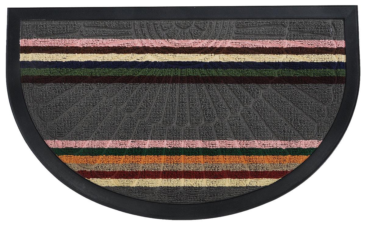 Коврик придверный Vortex Comfort, цвет: серый, розовый, зеленый, 75 х 45 см22387Оригинальный придверный коврик Vortex Comfort надежно защитит помещение от уличной пыли и грязи. Изготовлен из полипропилена на нескользящей резиновой основе. Коврик сохранит привлекательный внешний вид на долгое время.