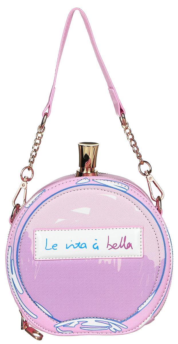 Сумка женская Kawaii Factory , цвет: светло-розовый. KW100-000160KW100-000160Экстравагантная сумка в виде флакона духов от Kawaii Factory говорит сама за себя - хозяйка уверена в себе и обладает солнечным чувством юмора. Ведь кто еще спрячет свои мелочи внутрь такой яркой сумочки! Внутренний объем позволяет вместить в аксессуар все необходимое. Модель выполнена из искусственной кожи, имеет два отделения на молнии и оснащена элегантным плечевым ремнем-цепочкой. Внутри изделие имеет два накладных кармана. Снаружи на задней стенке один открытый кармашек. С этой сумочкой вы сможете сделать свой образ неординарным и эффектным.