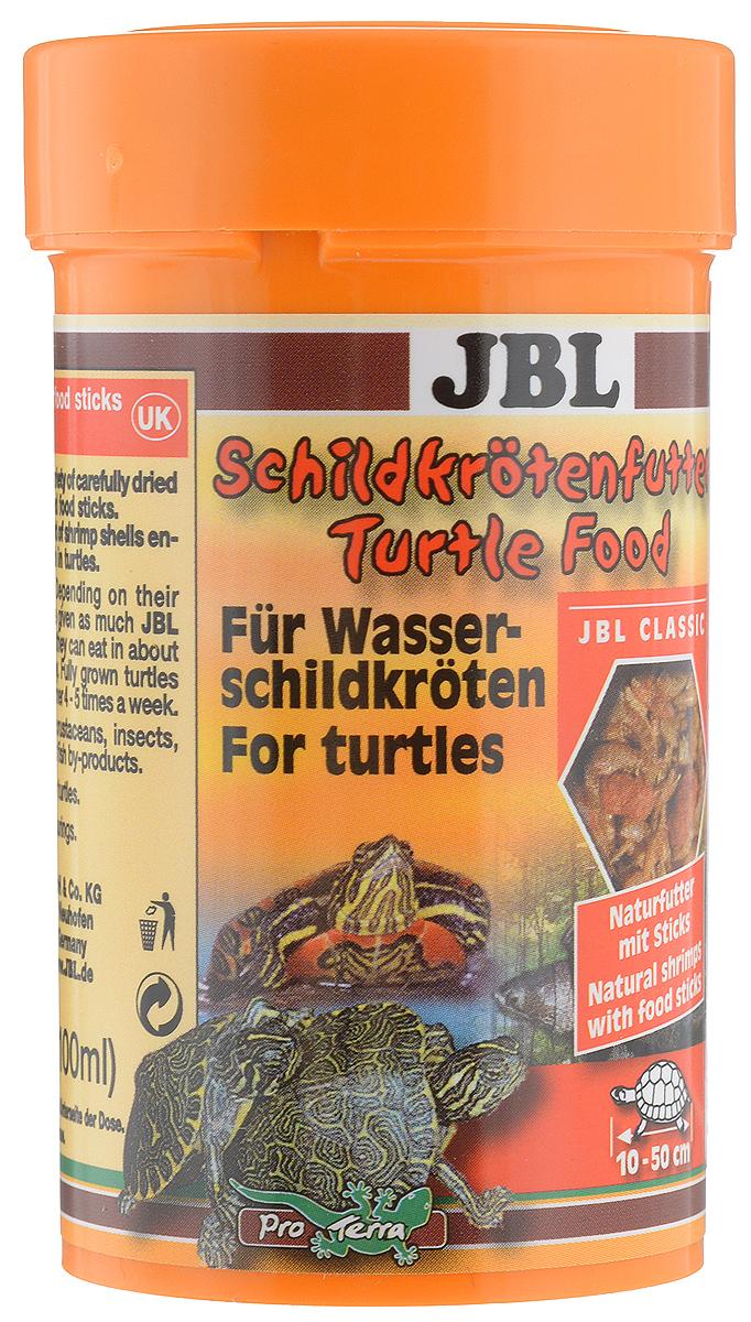 Корм JBL Schildkroetenfutter, для черепах, 11 гJBL7036200JBL Schildkroetenfutter - основной корм для черепах. Это сбалансированная смесь из сушеных рачков, насекомых и рыбных палочек. Подходит для всех водных черепах и болотных черепах умеренных широт. Можно использовать в качестве подкормки для тропических болотных черепах, птиц и других плотоядных обитателей террариума. Корм тщательно очищен, не загрязняет воду. Благодаря высокому природному содержанию кальция во всех рачках обеспечивает снабжение черепах кальцием, необходимым для роста их панциря. Товар сертифицирован.