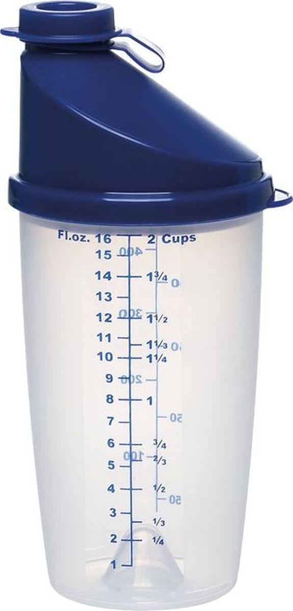 Шейкер Emsa Superline, цвет: синий, 0,5 л2145504400Шейкер Emsa Superline оснащен мерной шкалой, крышкой и закрывающимся носиком. Идеален для замера и смешивания жидкостей. Отлично подойдет для приготовления салатных заправок, коктейлей, яичницы-болтуньи и многого другого. Подходит для микроволновой печи. Можно мыть в посудомоечной машине.