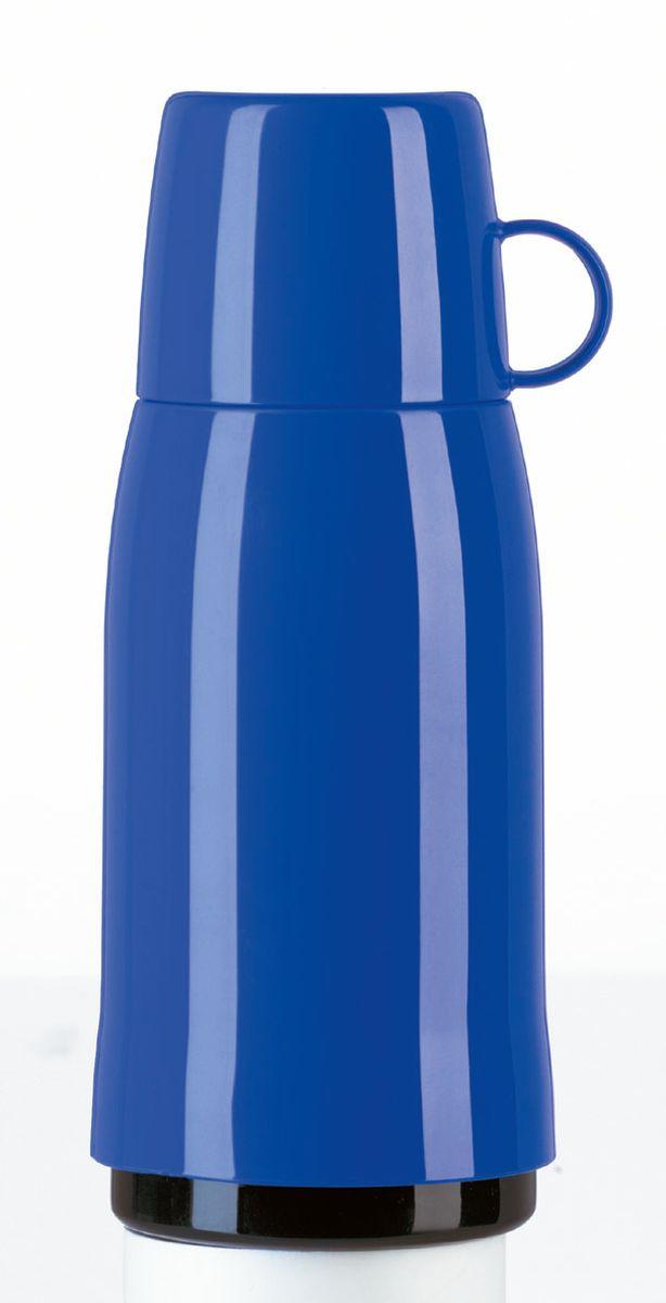 Термос Emsa Rocket, цвет: синий, 0,5 л. 502442502442Термос ROCKET с завинчивающейся пробкой. Объём: 0,5 л. Классический дизайн. С высококачественной вакуумной стеклянной колбой. 100 % герметичный. С чашкой.