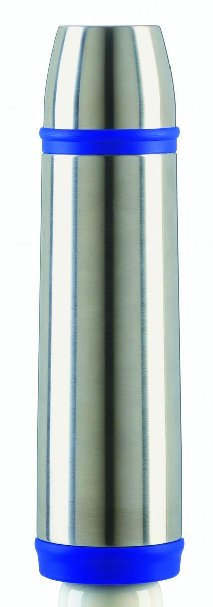 Термос Emsa Captain, цвет: синий, 0,7 л502473Термос Emsa Captain с двусторонней вакуумной колбой в классическом дизайне изготовлен из нержавеющей стали. Благодаря вакуумной крышке, термос 100% герметичен. Крышку можно использовать как чашку. Удобный, компактный и практичный термос пригодится в путешествии, походе и поездке.