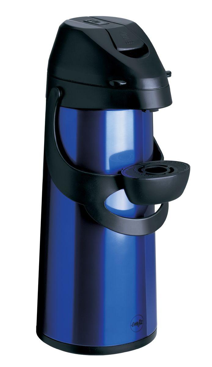 Термос Emsa Pronto, с насосом, цвет: синий, 1,9 л502484Термос Emsa Pronto с высококачественной вакуумной стеклянной колбой и пневмонасосом, идеально подойдет для больших вечеринок и событий дома и на работе, в походе, на рыбалке и на даче. Термос сохраняет напиток горячим до 12 часов, холодным до 24 часов. Насос и приёмная трубка легко снимаются, обеспечивая доступ к колбе и быстро и удобно моются. Регулируемая по высоте подставка для чашки, удобная система фиксации ручки насоса делают использование термоса приятным и удобным.