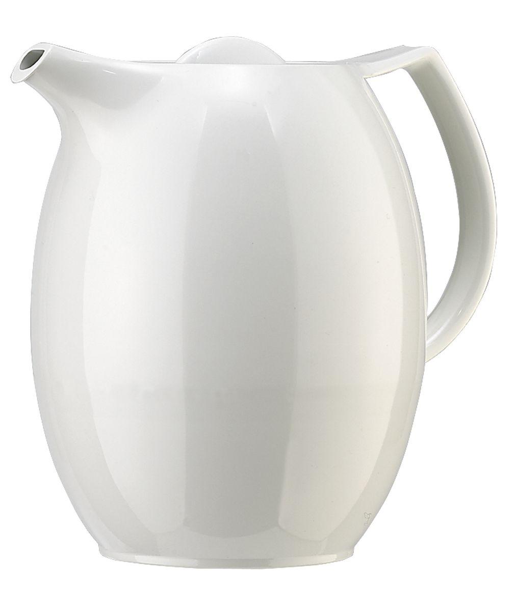 Термос-чайник Emsa Ellipse, с ситечком, цвет: белый, 1 л. 503692503692Чайник с ситечком и завинчивающейся пробкой. Объём: 1,0 л. Классический дизайн. С высококачественной вакуумной стеклянной колбой. 100 % герметичный. В комплекте с фильтром для чая Aroma. Высококачественная имитация фарфора. Гарантия 5 лет.
