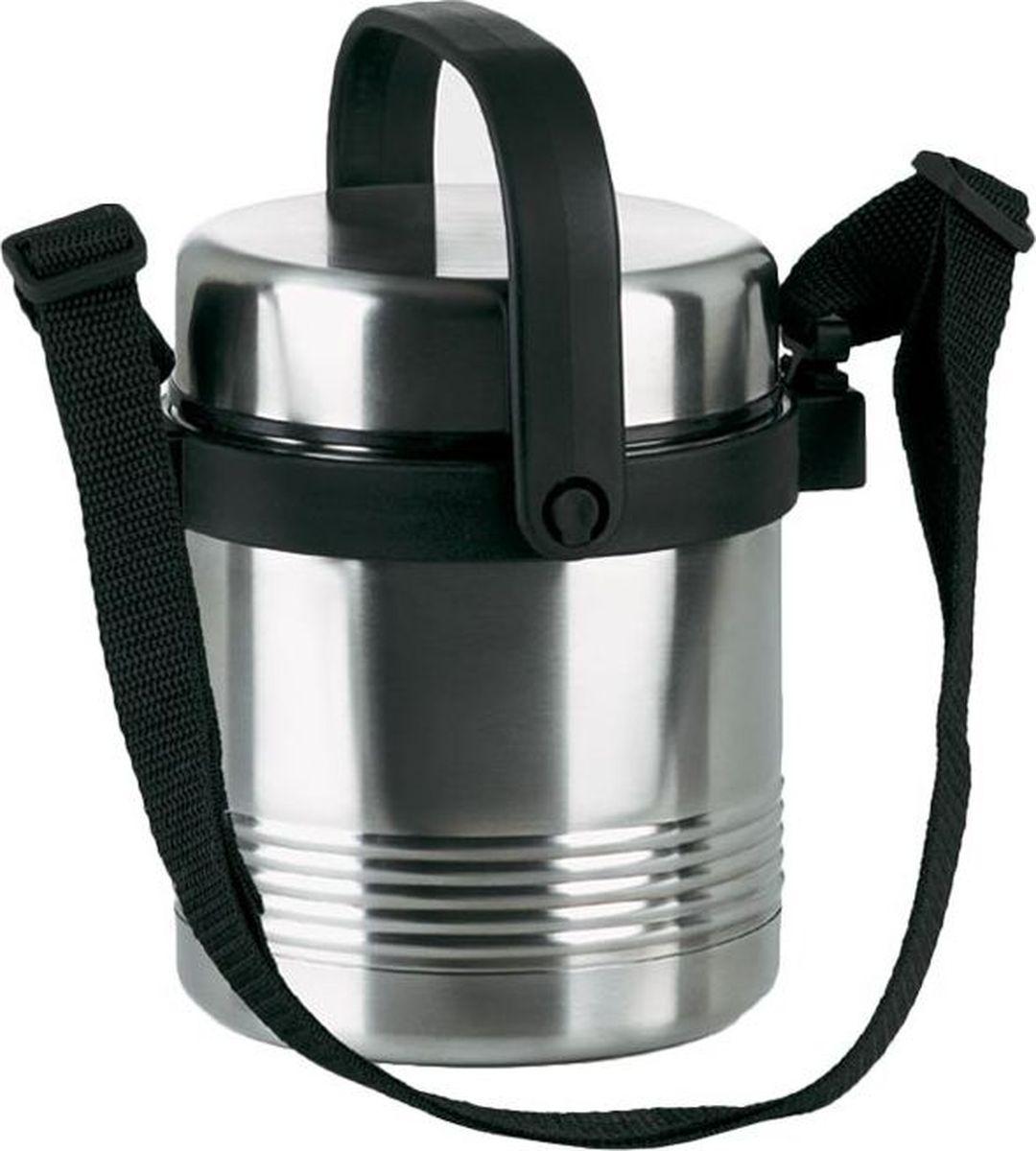 Термос Emsa Senator, цвет: серый, 1,4 л504207Термос для еды Emsa Senator изготовлен из высококачественной стали, и оснащен двустенной вакуумной колбой из нержавеющей стали. Внутри термоса два встроенных отделения для еды. Плотно закручивающаяся крышка 100% герметична.