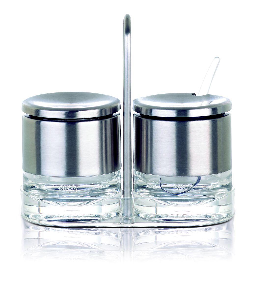 Набор Emsa Accenta, для сливок и сахара, 4 предмета504675Набор Emsa Accenta состоит из емкостей для сливок и сахара. Емкости изготовлены из поликарбоната. Благородный дизайн отлично впишется в любой интерьер. В комплекте с емкостями порционная ложка.
