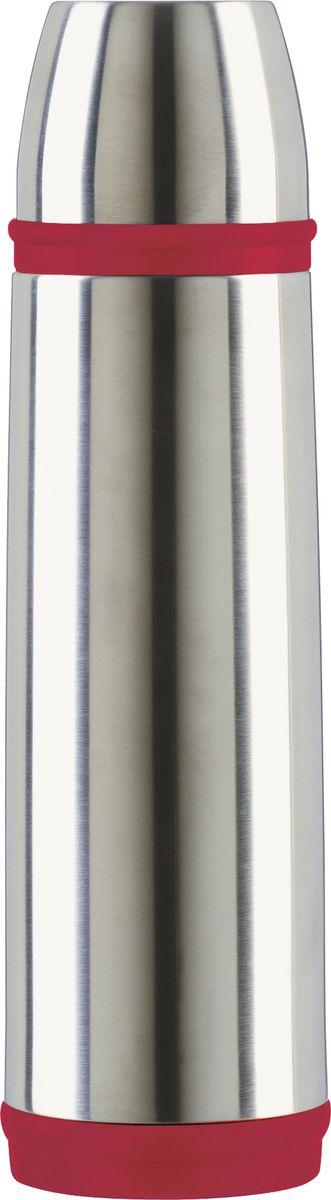 Термос Emsa Captain, цвет: красный, 1 л507519Термос Emsa Captain с двусторонней вакуумной колбой в классическом дизайне изготовлен из нержавеющей стали. Благодаря вакуумной крышке, термос 100% герметичен. Удобный, компактный и практичный термос пригодится в путешествии, походе и поездке.