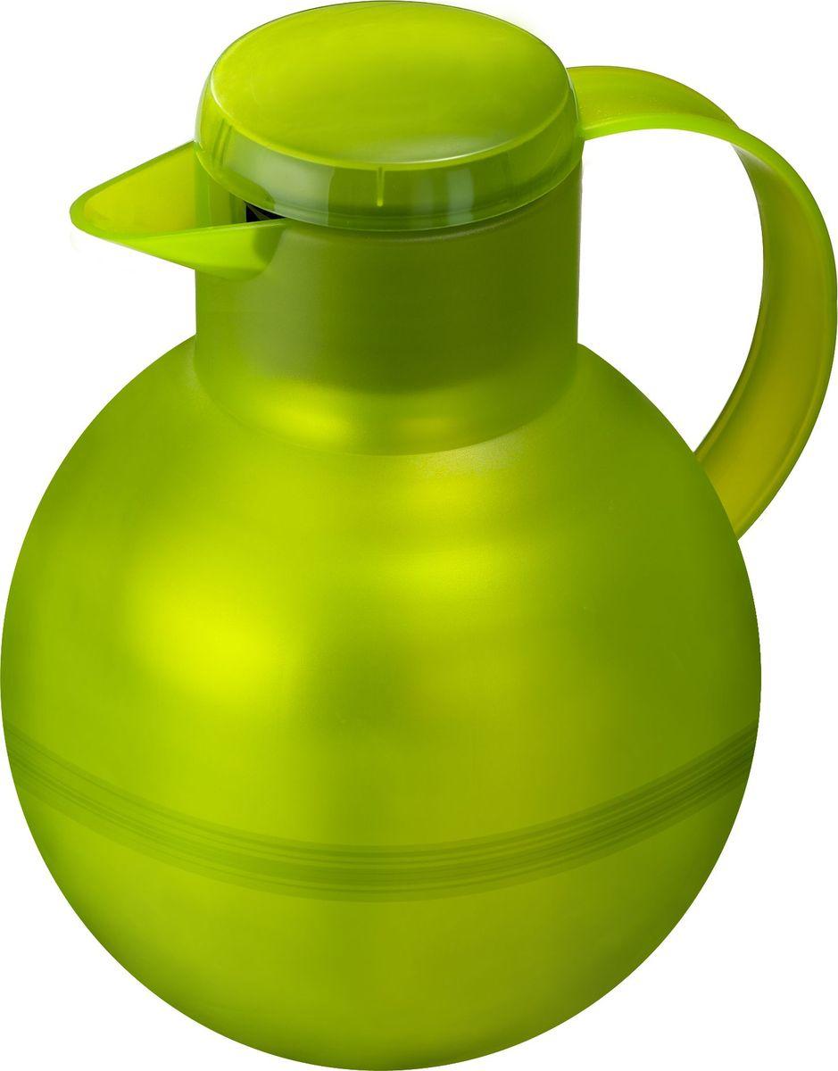 Термос-чайник Emsa Samba Tea, цвет: зеленый, 1 л509156Удобный термос-кофейник Emsa Samba Tea станет незаменимым аксессуаром в поездках, выездах на природу, дачу, рыбалку или пикник. Корпус кувшина выполнен из высококачественного пластика, а колба - из стекла. На крышке изделия имеется кнопка Quick Press , с помощью которой вы сможете легко открыть герметичный клапан, а удобные носик и ручка позволят аккуратно разлить содержимое по стаканам. Пробка легко разбирается и превосходно моется. Линейка термосов Emsa Samba Tea славится элегантным дизайном, разнообразием цветов, высококачественной вакуумной индийской стеклянной колбой с серебряным напылением, сохраняющей ваш напиток горячим до 12 часов и холодным до 24 часов. 100 % герметичность сохранит аромат вашего напитка и не допустит в него посторонние запахи.