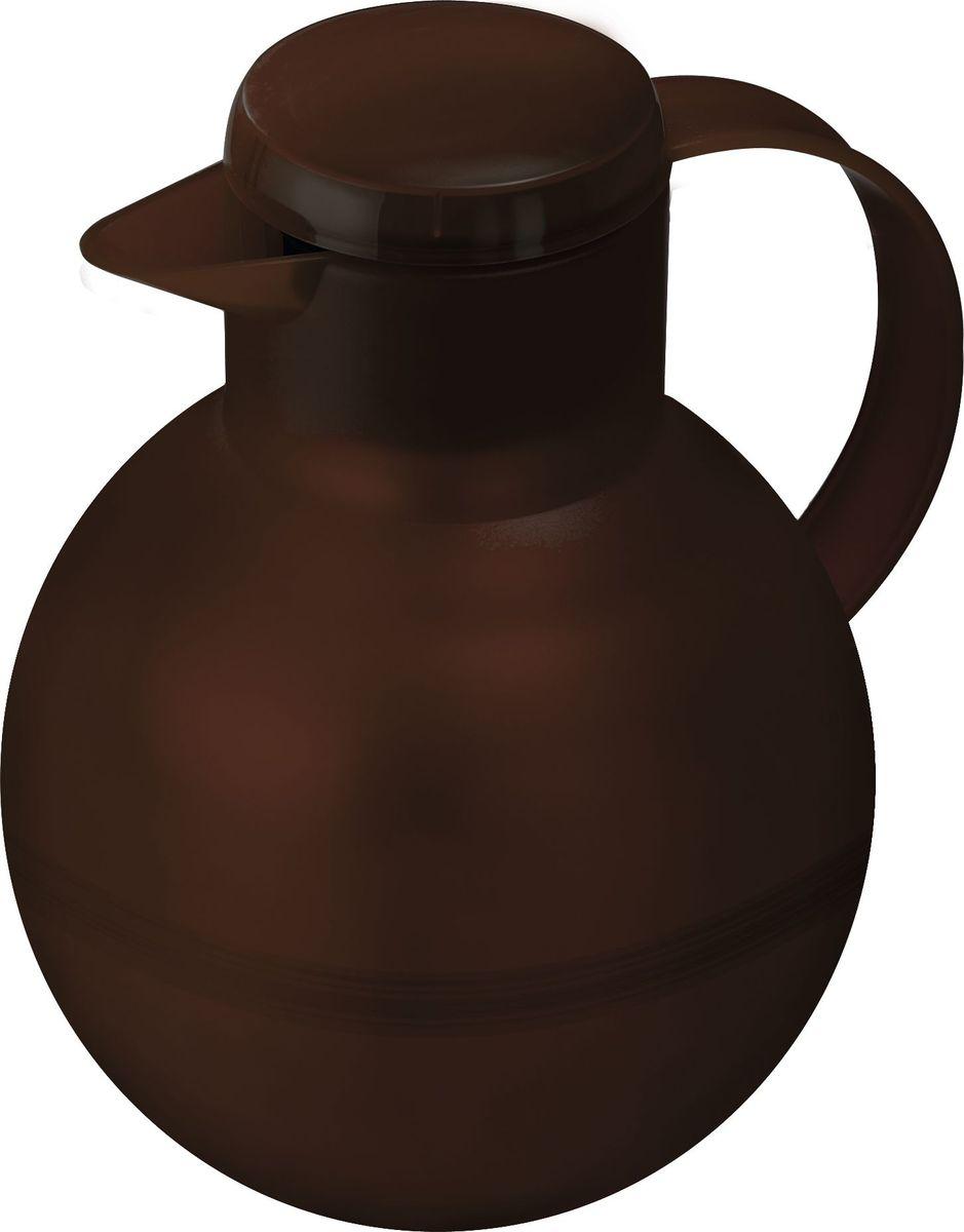 Термос-чайник Emsa Samba Tea, цвет: коричневый, 1 л509158Удобный термос-кофейник Emsa Samba Tea станет незаменимым аксессуаром в поездках, выездах на природу, дачу, рыбалку или пикник. Корпус кувшина выполнен из высококачественного пластика, а колба - из стекла. На крышке изделия имеется кнопка Quick Press , с помощью которой вы сможете легко открыть герметичный клапан, а удобные носик и ручка позволят аккуратно разлить содержимое по стаканам. Пробка легко разбирается и превосходно моется. Линейка термосов Emsa Samba Tea славится элегантным дизайном, разнообразием цветов, высококачественной вакуумной индийской стеклянной колбой с серебряным напылением, сохраняющей ваш напиток горячим до 12 часов и холодным до 24 часов. 100 % герметичность сохранит аромат вашего напитка и не допустит в него посторонние запахи.