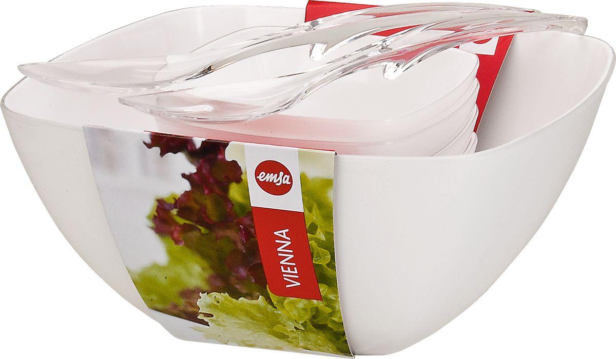 """Набор для салата Emsa """"Vienna"""", цвет: белый, 7 предметов"""