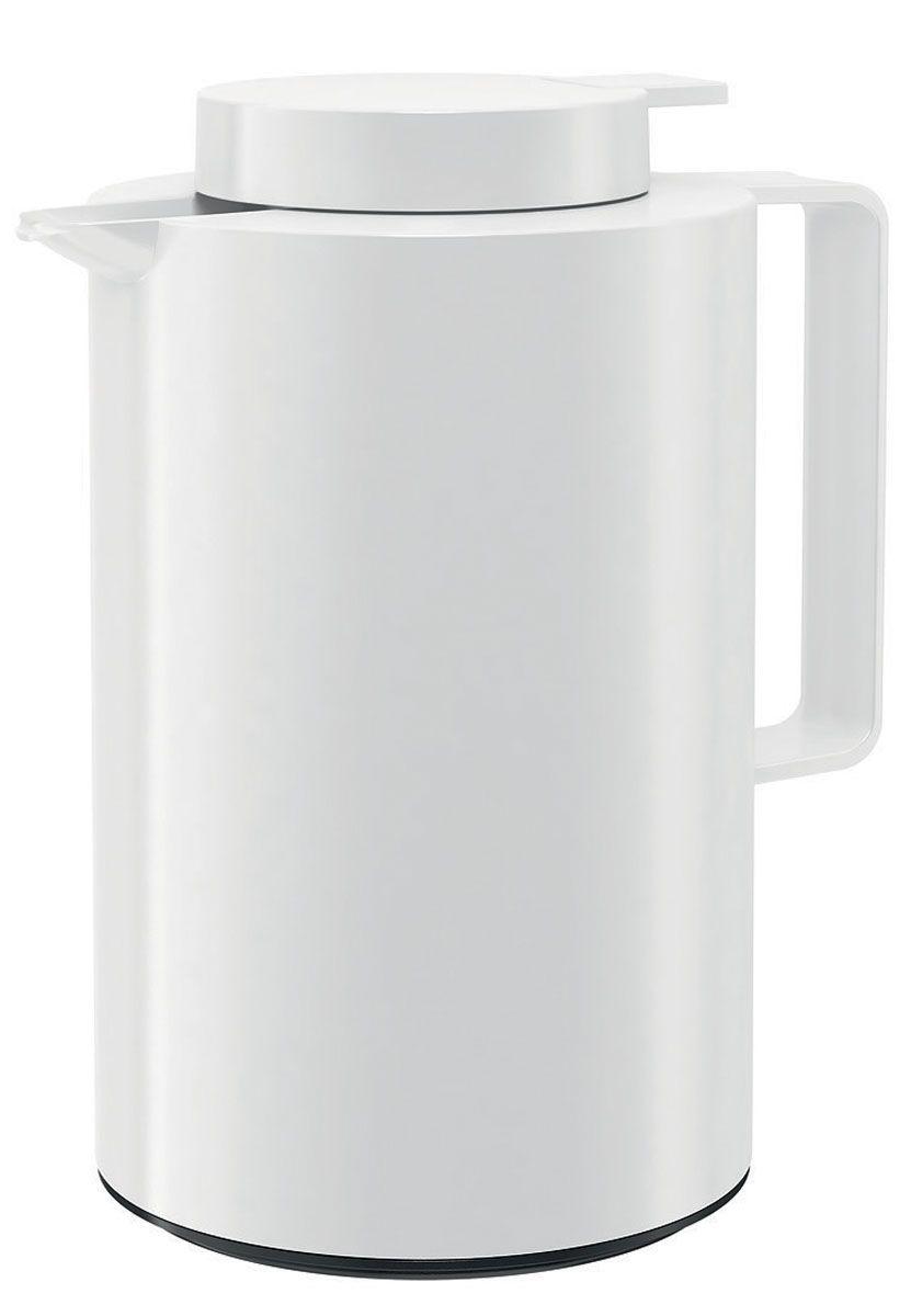 Термос-кофейник Emsa Ultima, цвет: белый, 0,85 л512804Термос-кофейник Emsa Ultima с удобной клавишей-пробкой Quick Tip, позволяет наливать напиток одной рукой. Высококачественная вакуумная стеклянная колба Aroma Diamond, позволяет сохранить ваш напиток горячим до 12 часов, холодным до 24 часов. Пробка разбирается на две части. Можно мыть в посудомоечной машине. Оригинальный дизайн впишет в любой современный интерьер.