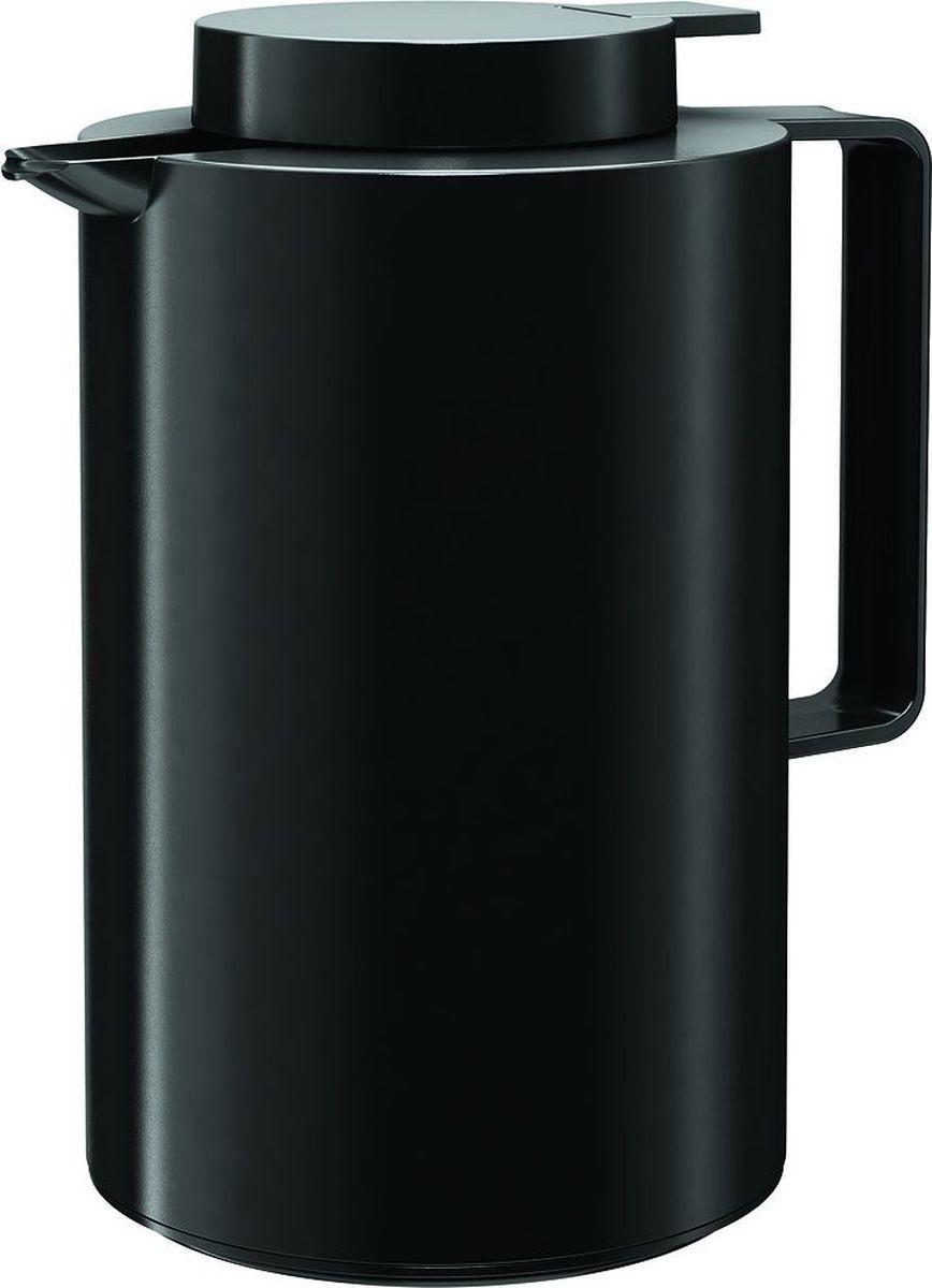 Термос-кофейник Emsa Ultima, цвет: черный, 0,85 л512806Термос-кофейник Emsa Ultima с удобной клавишей-пробкой Quick Tip, позволяет наливать напиток одной рукой. Высококачественная вакуумная стеклянная колба Aroma Diamond, позволяет сохранить ваш напиток горячим до 12 часов, холодным до 24 часов. Пробка разбирается на две части. Можно мыть в посудомоечной машине. Оригинальный дизайн впишет в любой современный интерьер.