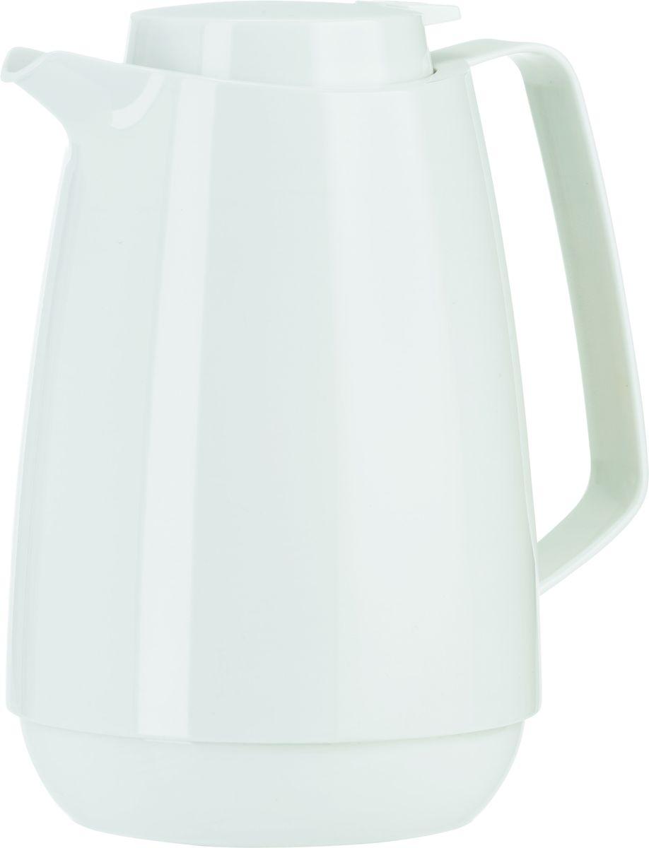 Термос-кофейник Emsa Momento Coffee, цвет: белый, 1 л512981Элегантный термос-кофейник Emsa Momento Coffee с двустенной вакуумной колбой из нержавеющей стали и пробкой Quick Press. Крышка с системой Easy Open позволяет управляться одной рукой. Оригинальный дизайн впишет в любой современный интерьер.