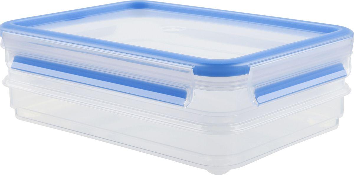 Набор контейнеров для нарезки Emsa Clip&Close, 0,6 л, 2 шт513576Набор контейнеров Emsa Clip&Close изготовлен из высококачественного антибактериального пищевого пластика, имеющего сертификат BPA-free, который выдерживает температуру от -40°С до +110° С, не впитывает запахи и не изменяет цвет. Это абсолютно гигиеничный продукт, который подходит для хранения даже детского питания. 100% герметичность - идеально не только для хранения, но и для транспортировки пищи. Герметичность достигается за счет специальных силиконовых прослоек, которые позволяют использовать контейнер для хранения не только пищи, но и жидкости. В таком контейнере продукты долгое время сохраняют свою свежесть - до 4-х раз дольше по сравнению с обычными, в том числе и вакуумными контейнерами. 100% гигиеничность - уникальная технология применения медицинского силикона в уплотнителе крышки: никаких полостей - никаких микробов. Изделие снабжено крышкой, плотно закрывающейся на 4 защелки. 100% удобство - прозрачные стенки позволяют просматривать...