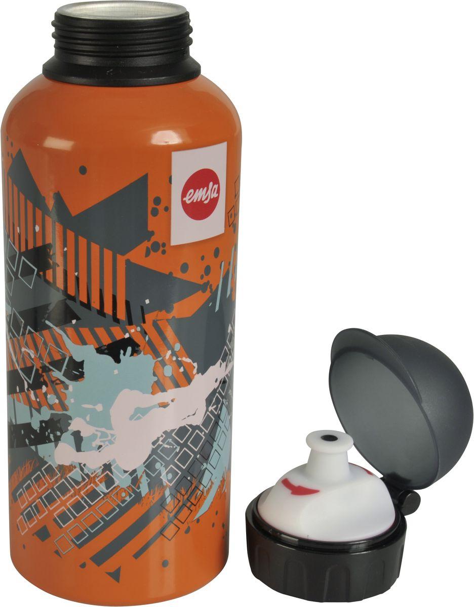 Бутылка Emsa Teens. Splash, с крышкой, 0,6 л514404Оригинальная бутылка-фляга Emsa Teens. Splash оснащена питьевым клапаном, благодаря которому, пить можно прямо на ходу, не боясь разлить содержимое. Особенности бутылки: BPA Free. 100 % герметичная. 100 % надежная: крышка при открытом клапане не закрывается. 100 % гигиенична благодаря наружной резьбе. Питьевой клапан легко моется. Материал бутылки устойчив к воздействию фруктовых кислот. Яркий дизайн и удобство использования сделают эту бутылку отличным спутником на прогулке, учебе или в путешествии.