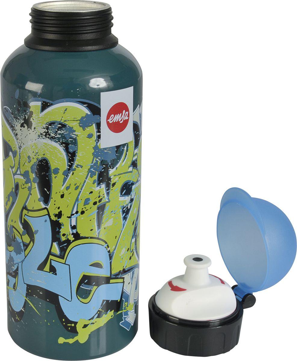 Бутылка Emsa Teens. Graffiti, с крышкой, 0,6 л514405Оригинальная бутылка-фляга Emsa Teens. Graffiti оснащена питьевым клапаном, благодаря которому, пить можно прямо на ходу, не боясь разлить содержимое. Особенности бутылки: BPA Free. 100 % герметичная. 100 % надежная: крышка при открытом клапане не закрывается. 100 % гигиенична благодаря наружной резьбе. Питьевой клапан легко моется. Материал бутылки устойчив к воздействию фруктовых кислот. Яркий дизайн и удобство использования сделают эту бутылку отличным спутником на прогулке, учебе или в путешествии.