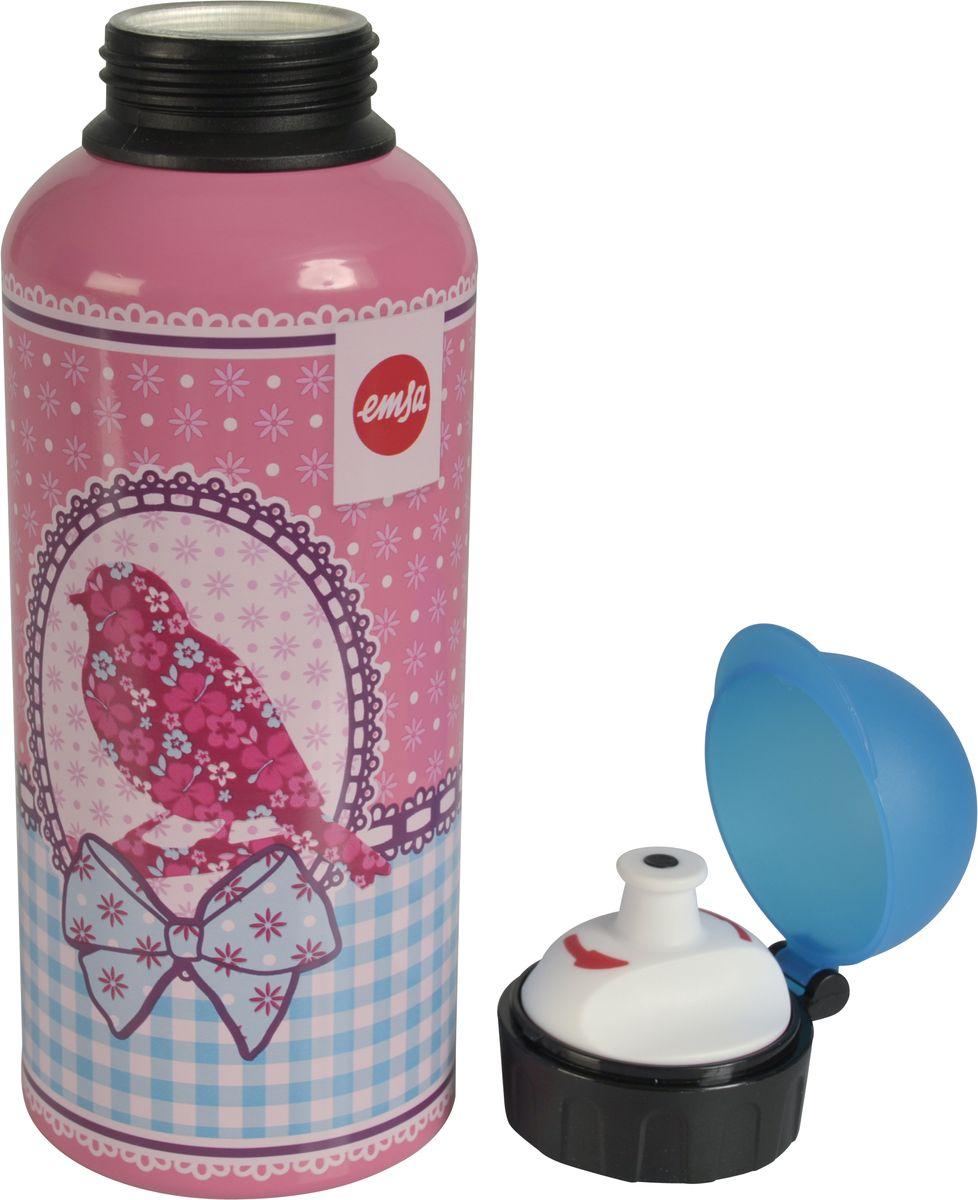 Бутылка Emsa Teens. Birdy Bow, с крышкой, 0,6 л514411Оригинальная бутылка-фляга Emsa Teens. Birdy Bow оснащена питьевым клапаном, благодаря которому, пить можно прямо на ходу, не боясь разлить содержимое. Особенности бутылки: BPA Free. 100 % герметичная. 100 % надежная: крышка при открытом клапане не закрывается. 100 % гигиенична благодаря наружной резьбе. Питьевой клапан легко моется. Материал бутылки устойчив к воздействию фруктовых кислот. Яркий дизайн и удобство использования сделают эту бутылку отличным спутником на прогулке, учебе или в путешествии.