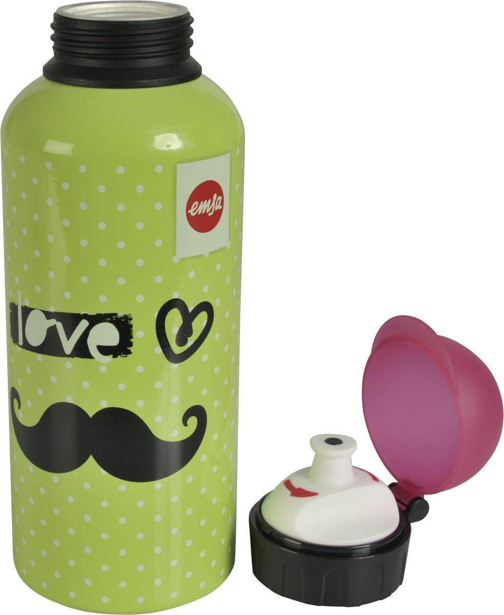Бутылка Emsa Teens. Moustache, с крышкой, 0,6 л514413Оригинальная бутылка-фляга Emsa Teens. Moustache оснащена питьевым клапаном, благодаря которому, пить можно прямо на ходу, не боясь разлить содержимое. Особенности бутылки: BPA Free. 100 % герметичная. 100 % надежная: крышка при открытом клапане не закрывается. 100 % гигиенична благодаря наружной резьбе. Питьевой клапан легко моется. Материал бутылки устойчив к воздействию фруктовых кислот. Яркий дизайн и удобство использования сделают эту бутылку отличным спутником на прогулке, учебе или в путешествии.
