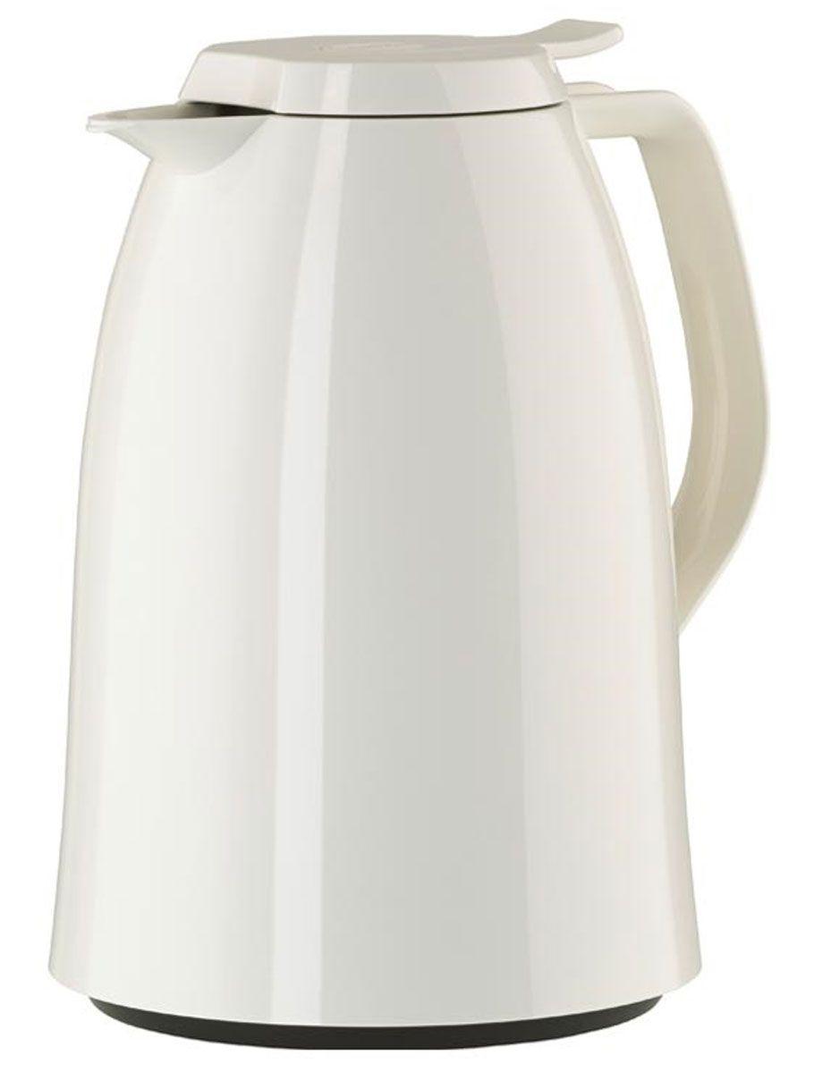 Термос-кофейник Emsa Mambo, цвет: белый, 1,5 л517008Элегантный термос-кофейник Emsa Mambo с двустенной вакуумной колбой из нержавеющей стали и пробкой Quick Press. Крышка с системой Easy Open позволяет управляться одной рукой. Оригинальный дизайн впишет в любой современный интерьер.