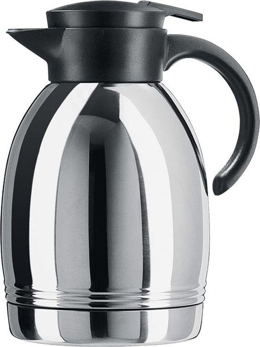Термос-кофейник Emsa Konsul, цвет: черный, 1,3 л628131600Элегантный термос-кофейник Emsa Konsul с двустенной вакуумной колбой изготовлен из нержавеющей стали. Крышка с системой Easy Open позволяет управляться одной рукой. Отполированная до зеркального блеска поверхность впишет в любой современный дизайн интерьера.