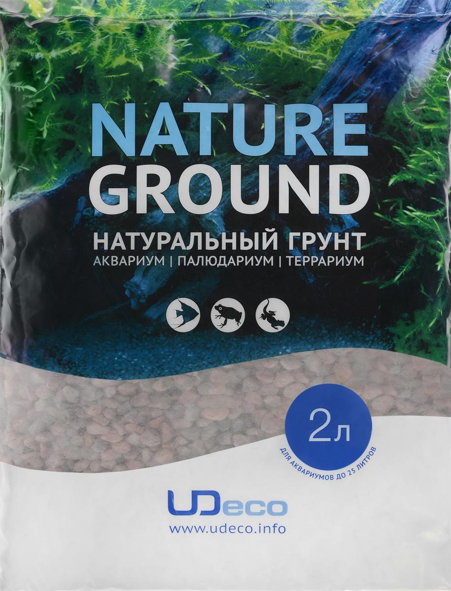 Грунт для аквариума UDeco Розовый гравий, натуральный, 6-8 мм, 2 лUDC410472Натуральный грунт UDeco Розовый гравий предназначен специально для оформления аквариумов, палюдариумов и террариумов. Изделие готово к применению. Грунт UDeco порадует начинающих любителей природы и самых придирчивых дизайнеров, стремящихся к созданию нового, оригинального. Такая декорация придутся по вкусу и обитателям аквариумов и террариумов, которые ещё больше приблизятся к природной среде обитания. Необходимое количество грунта рассчитывается по формуле: длина аквариума х ширина аквариума х толщина слоя грунта. Предназначен для аквариумов от 20 литров. Фракция: 6-8 мм. Объем: 2 л.