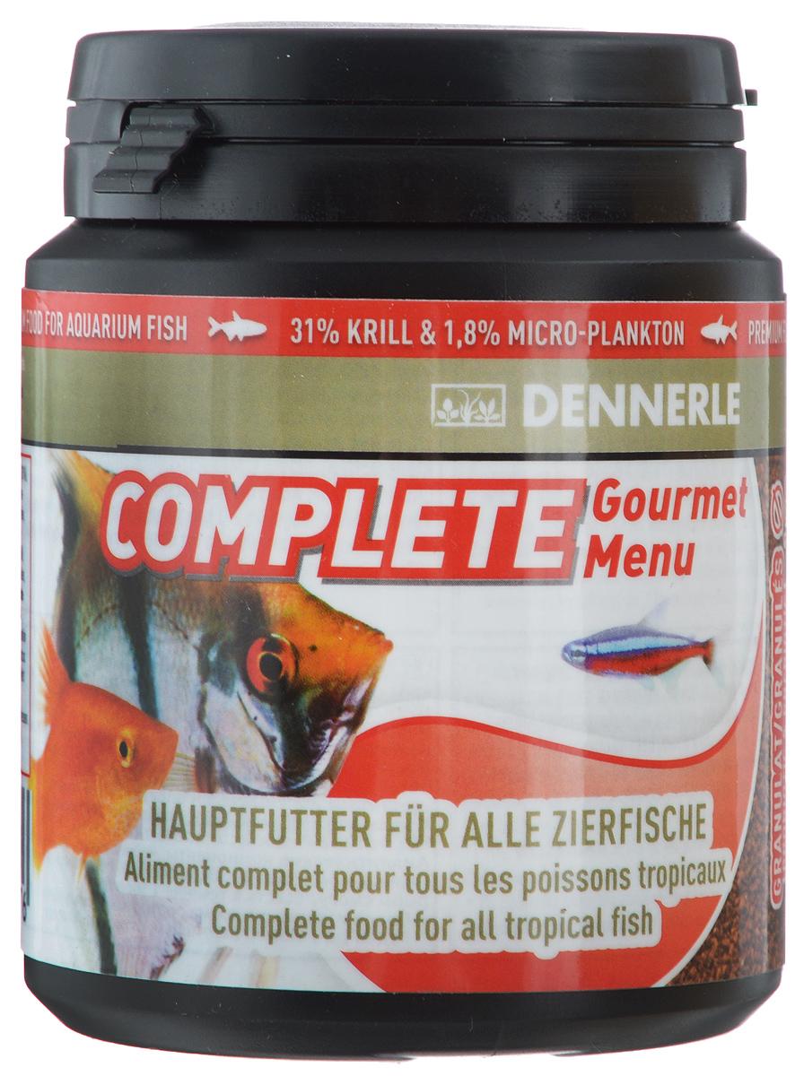 Корм Dennerle Complete Gourmet Menu, для аквариумных рыб, 84 гDEN7507Корм Dennerle Complete Gourmet Menu разработан для обитателей классического общего аквариума. Корм в форме гранул состоит из 30 различных ингредиентов и хорошо поедаются рыбами любого размера. Состоит из натуральных рачков и моллюсков (60%) и натуральных водорослей (4%). Первый корм для рыб с листьями «чудесного» дерева моринга (Moringa olifera), богатыми различными микроэлементами и витаминами. Состав: арктический криль (31%), пшеничный протеин, каракатица, жир морских животных с омега-3 ПНЖК, речной бокоплав, водяная блоха, кузнечик, личинка мухи, известковые красные водоросли, дрожжевой экстракт, экстракт зеленого губчатого моллюска, артемия и науплия артемии, моринга масличная, цикория инулина, шпинат, красная личинка комара, Nannochloropsis водоросли (1%), травяной экстракт, капуста белокочанная, спирулина платенсис (0,5%), мелисса, чеснок, мокрица, водоросли хлорелла (0,3%), фенхель, анис, цветочная пыльца, порошок виноградных косточек, бета- ...