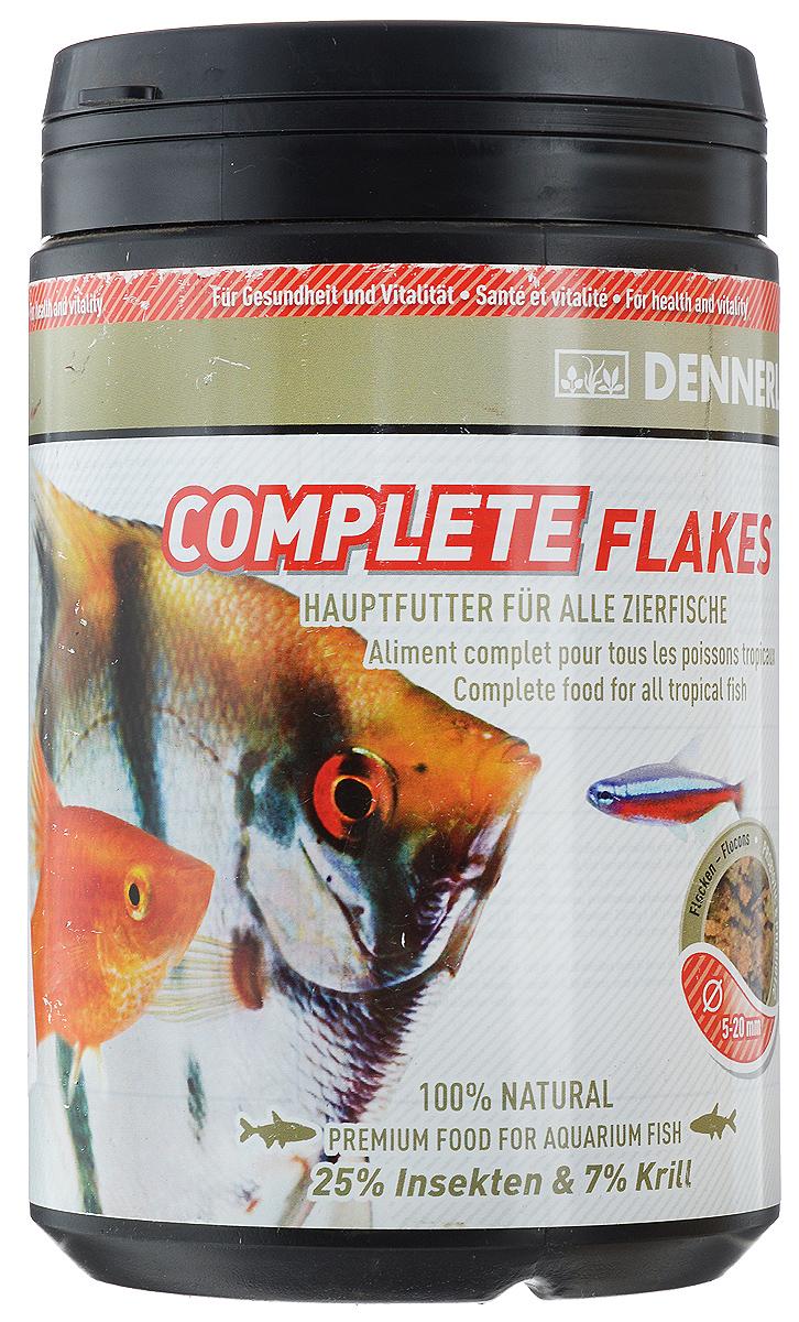 Корм Dennerle Complete Flakes, для аквариумных рыб, 190 гDEN7503Корм Dennerle Complete Flakes подходит для обитателей классических общих аквариумов. Корм состоит из различных ингредиентов хорошо воспринимаемых рыбками любых размеров. Содержит до 25% вкусных личинок насекомых, до 7% богатых витаминами овощей. В состав входят листья чудесного дерева Моринга с высоким содержанием микроэлементов и витаминов. Состав: белковый экстракт из личинок мухи-львинки (25%), пшеничная мука, пшеничный белок, криль (7%), кальмар, шпинат, кукурузная мука, пивные дрожжи, бетаин, жир морских животных с омега-3 ПНЖК, цикория инулин, грюнколь, кальций, моринга, спирулина, чеснок, бета-глюканы. Содержание питательных веществ: 45,2% сырого белка, 9,2% сырого жира, 4,2% сырой клетчатки, 5,5% неочищенной золы. Рекомендации по кормлению: 2-3 раза в день в количестве, которое рыбы смогут съесть в течение 1 минуты. Товар сертифицирован.