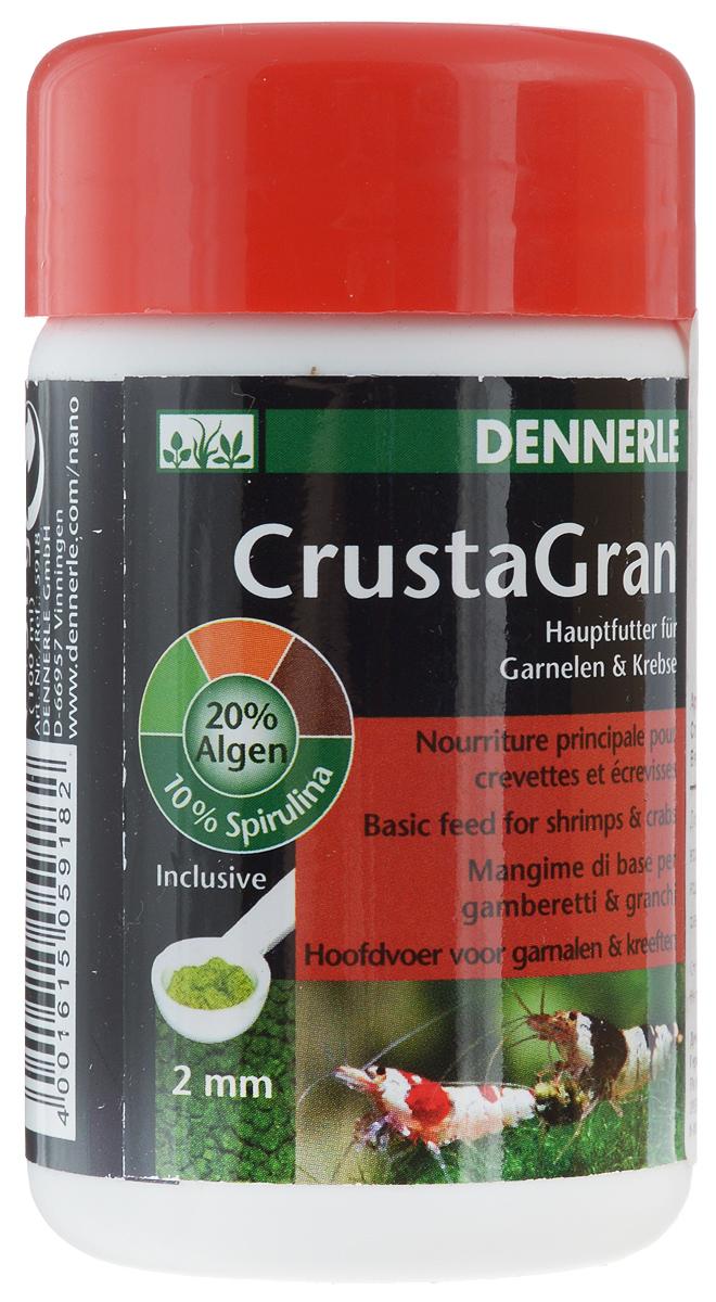 Корм Dennerle CrustaGran для креветок и мелких раков, 100 млDEN5918Гранулированный корм Dennerle CrustaGran предназначен для креветок и мелких раков. Это биологически сбалансированное питание. Корм изготовлен в виде гранул, которые не размокают в воде в течении 24 часов, не мутят воду. Состав: моллюски и ракообразные, водоросли (20 %, из них 10% спирулина), овощи, рыба и рыбные субпродукты, масла и жиры. Товар сертифицирован.