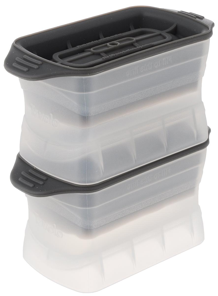 Набор форм для льда Tovolo, цвет: прозрачный, серый, 2 шт81-3996Добавьте вашим напиткам изысканности с помощью набора форм для льда Tovolo. Эти уникальные формы соединили в себе науку и искусство. В формочках можно заморозить лед небольшими (9 х 4 х 4 см) столбиками, которые идеально подойдут для хайболла. Силиконовая крышка плотно закупоривает форму и позволяет аккуратно и удобно разместить ее в морозильной камере. Размер формочки (с учетом крышки): 13 х 6,2 х 6,5 см. В комплекте две формочки для льда.