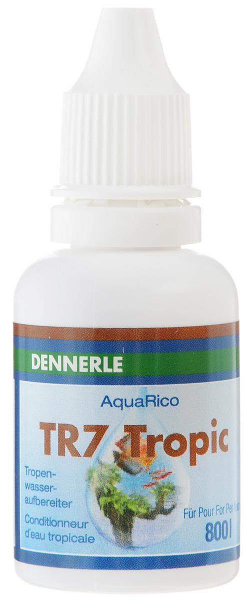 Кондиционер Dennerle TR7 Tropic, для получения тропической воды, 25 млDEN1696Кондиционер Dennerle TR7 Tropic создает в аквариуме воду, аналогичную природной тропической воде, без окраски воды, мешающей оптическому восприятию. Облегчает приручение и уход за всеми рыбами тропического бассейна, такими как дискусы, неоны, скалярии и апистограммы. Содержит ценные гуминовые и дубильные вещества из гуминового торфа, коры дуба и ольховых сережек. Сокращает стрессы и создает параметры воды, близкие к природным. Укрепляет слизистую оболочку, усиливает защитные силы организма. Улучшает икрометание, увеличивает процент появление мальков. Содержит экстракт листьев миндального дерева. Дозировка: еженедельно 3 мл на 100 л аквариумной воды. При повышенном требовании, например, к стимуляции нереста или для повышения всхожести икры 6 мл на 100 л аквариумной воды.