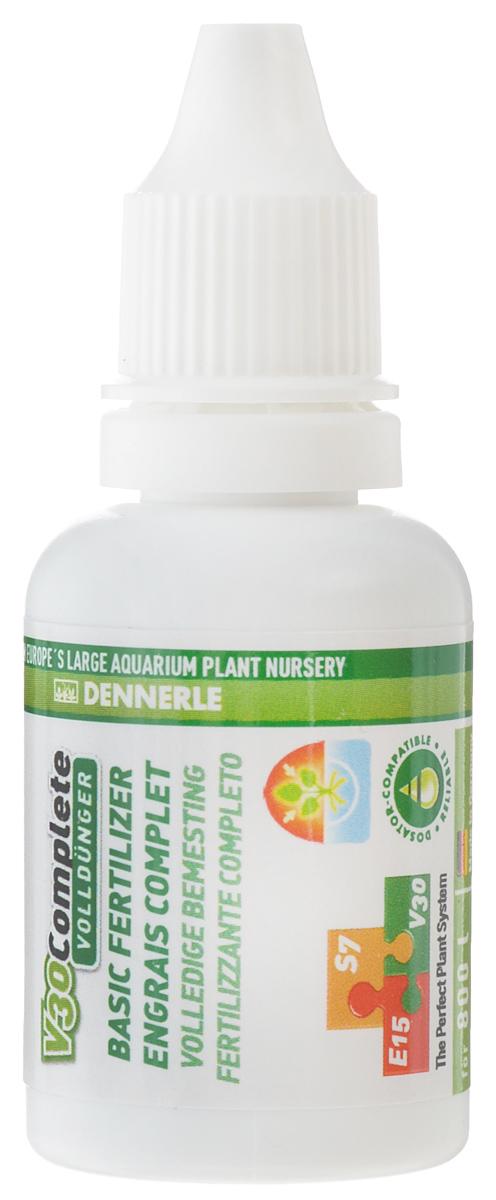 Удобрение для аквариумных растений Dennerle V30 Complete, универсальное, 25 млDEN4536Удобрение для аквариумных растений Dennerle V30 Complete содержит все важные питательные вещества и ценные микроэлементы. Активные питательные вещества удобрения действуют мгновенно. Удобрение препятствует появлению желтых полупрозрачных листьев, способствуя образованию яркой зеленой листвы. Все питательные вещества защищены хелатами и доступны растениям длительное время. Не содержит фосфаты и нитраты. Дозировка: раз в 2 недели по 3 мл на 100 л аквариумной воды. При использовании в системе Dennerle Perfect Plant (V30 + E15 + S7) - 3 мл на 100 л аквариумной воды раз в 4 недели.