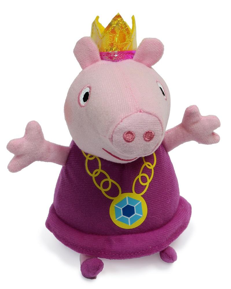 Peppa Pig Мягкая игрушка Пеппа-принцесса 20 см31151Чудесная мягкая игрушка Пеппа-принцесса обязательно понравится вашей малышке. С любимой героиней мультфильма необыкновенно весело играть, ее легко можно брать с собой в садик или в гости, а сны в обнимку с забавной плюшевой подружкой станут гораздо слаще и красочней. А если приобрести других персонажей из серии Peppa Pig, то ваша малышка оживит приключения своих любимых героев прямо у вас дома. Мягкая игрушка Пеппа-принцесса ТМ Свинка Пеппа высотой 20 см (размер указан с ножками) качественно сшита из мягкого, приятного на ощупь плюша, плотно набита. Глазки, носик и ротик вышиты. Корона выполнена из фетра и блестящего материала.