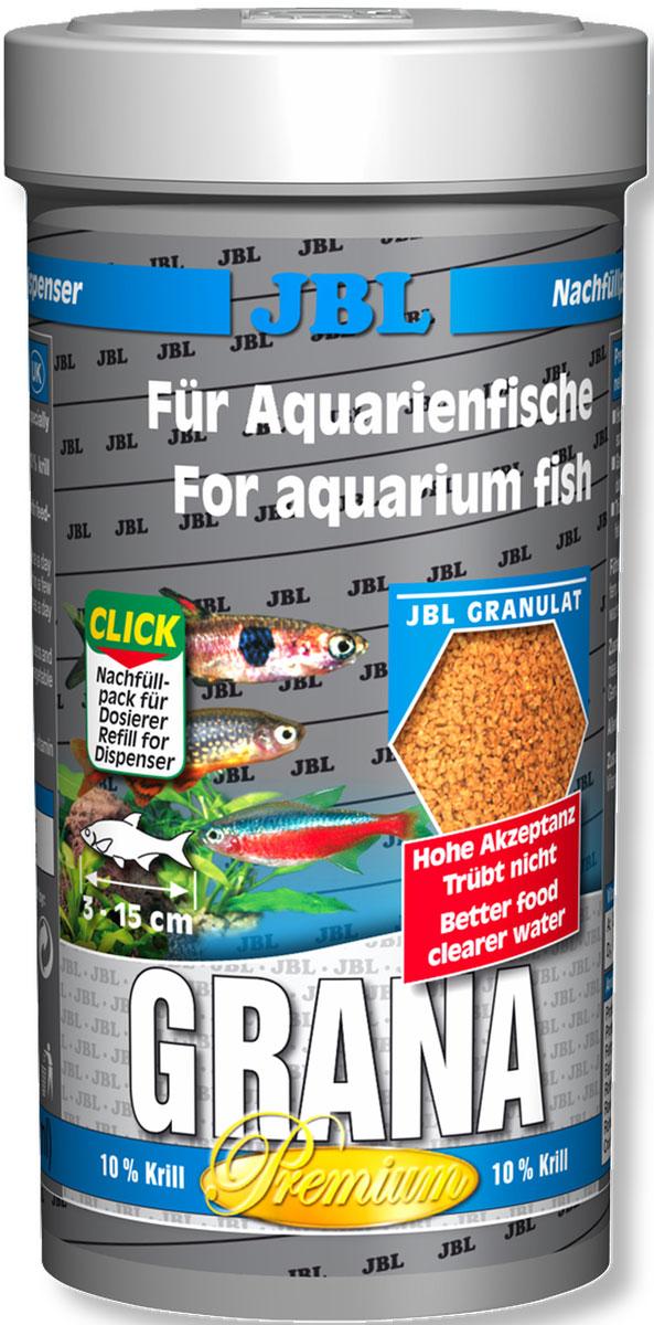 JBL Grana Основной корм класса премиум в форме гранул для маленьких рыб, 250 мл (110 г)JBL4051200JBL Grana - Основной корм класса премиум в форме гранул для маленьких рыб, 250 мл. (110 г.)